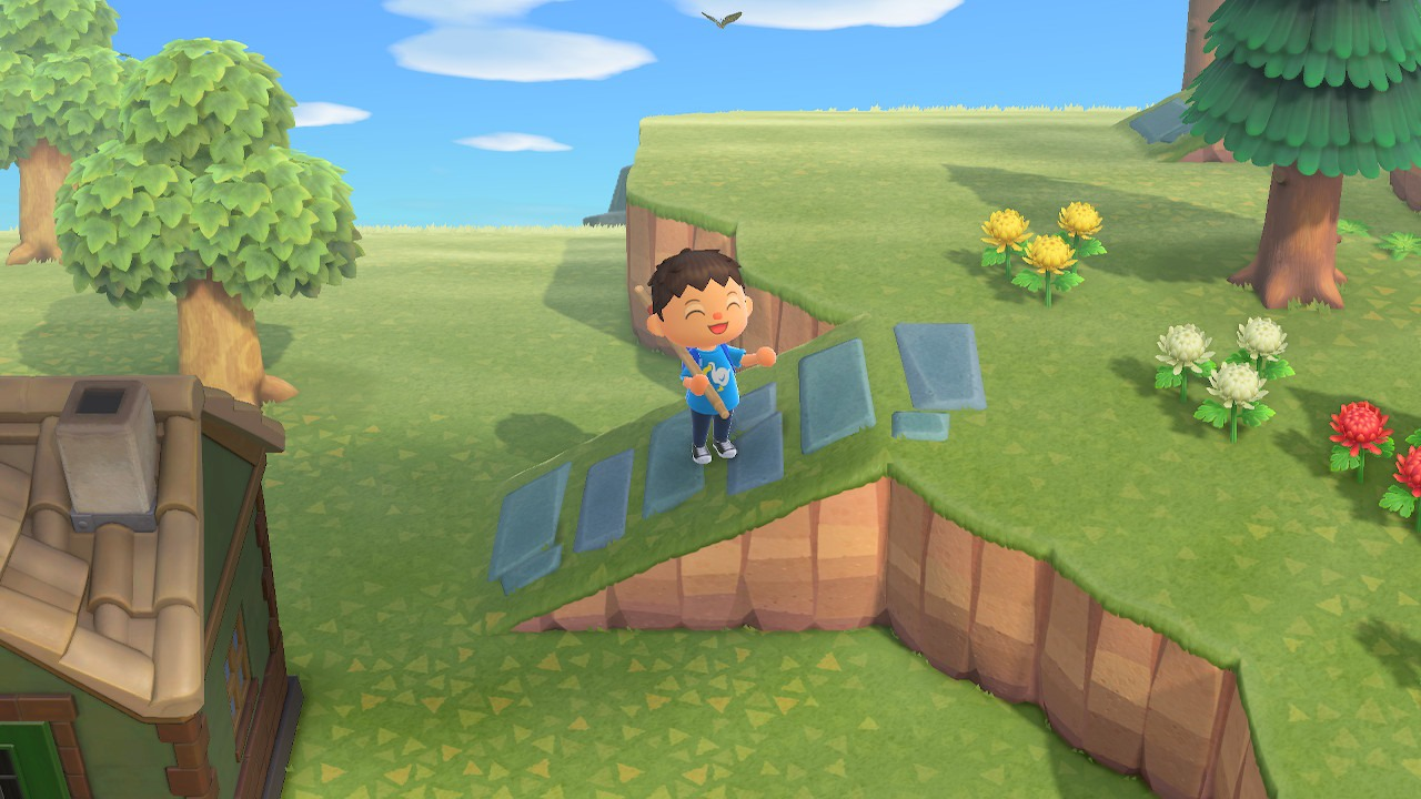 how to build an incline - animal crossing: new horizons