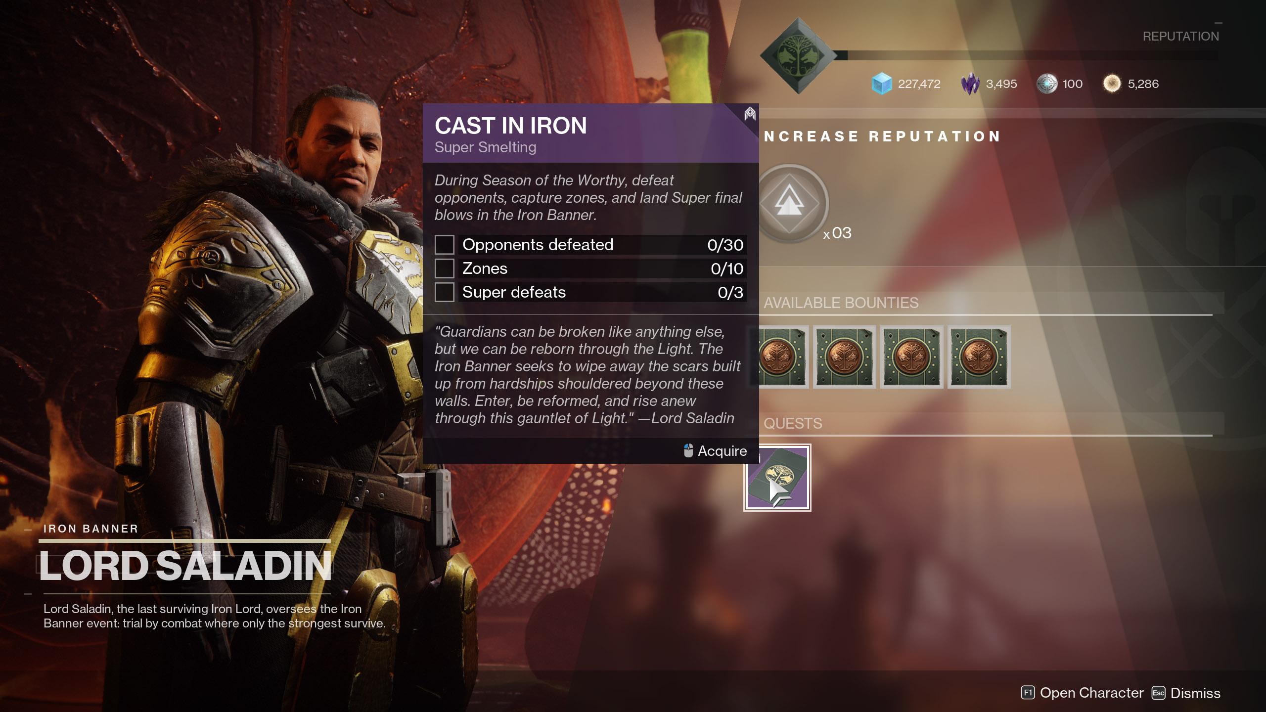 destiny 2 cast in iron