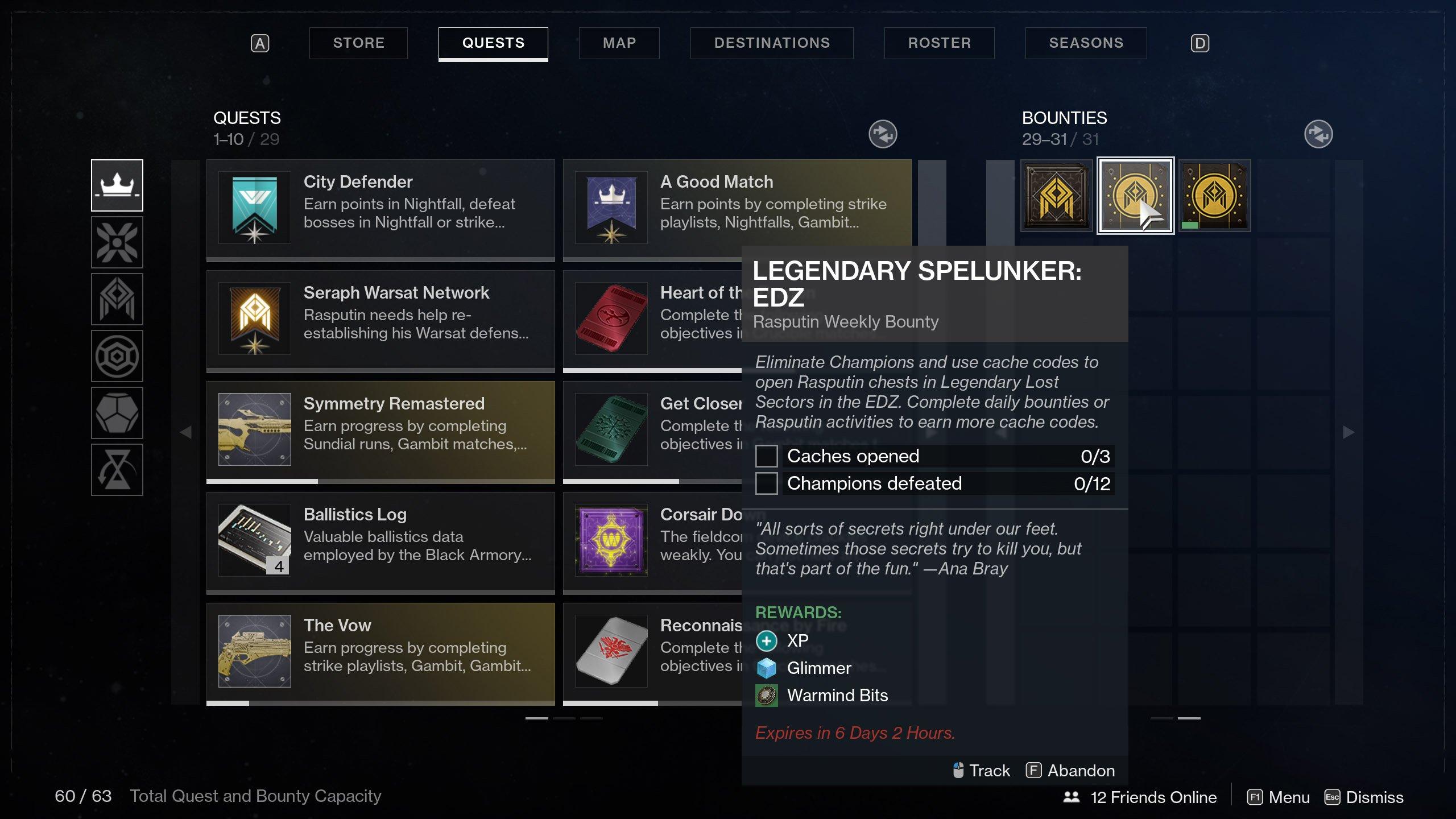 Legendary Spelunker Destiny 2