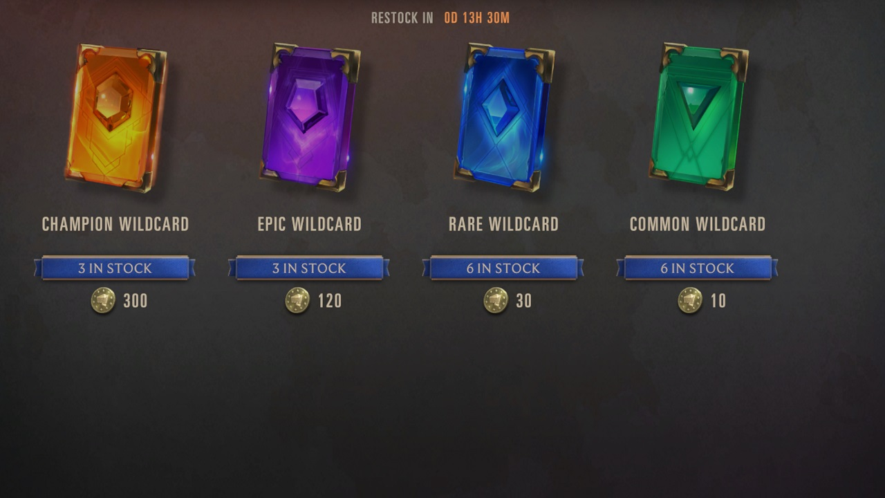 Progress caps aren't just being taken off of free-to-play systems in Legends of Runeterra. Limitations on wildcard purchases are also going away.