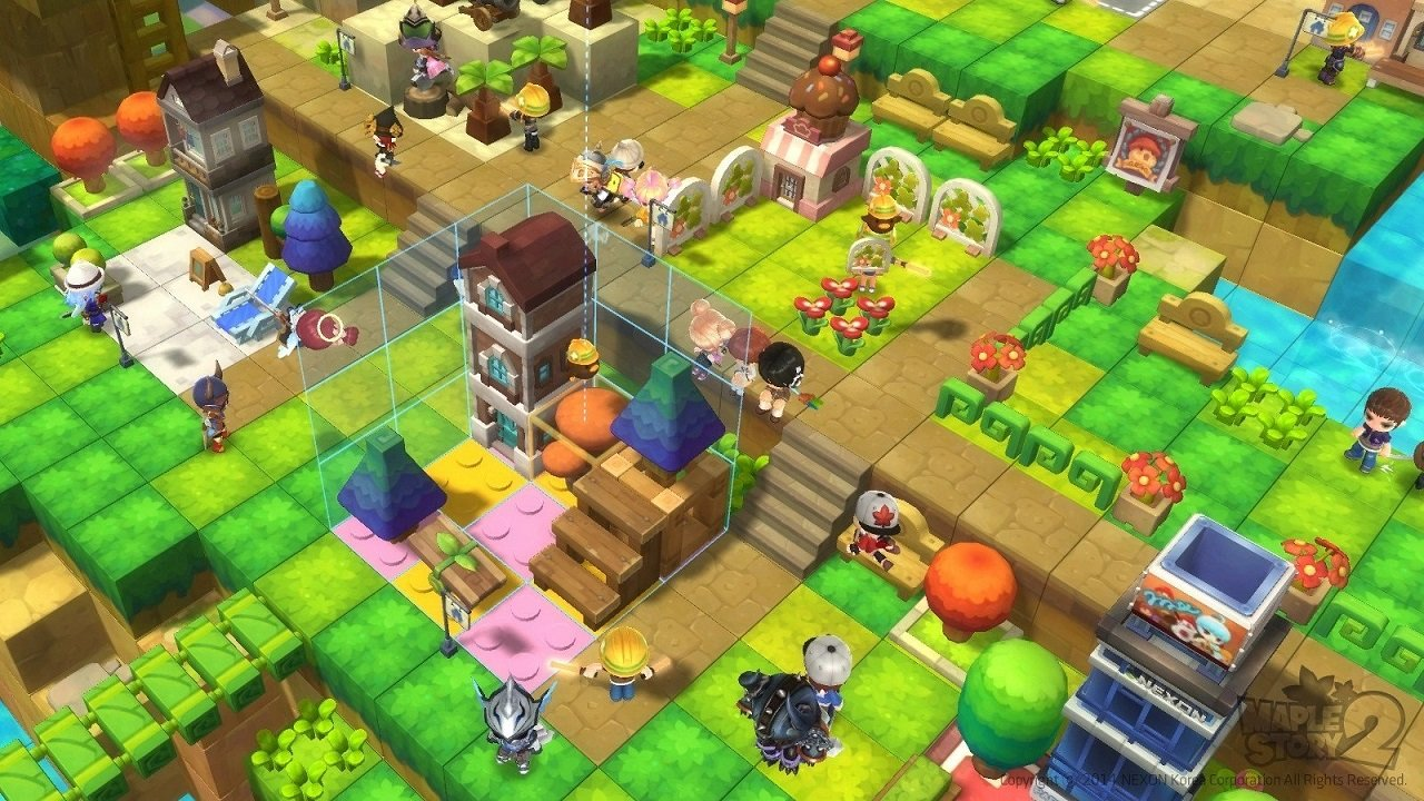 MapleStory 2 tried a lot of different things to reinvent itself and become more popular, including a battle royale mode, but just never quite reached the popularity of the original MapleStory.