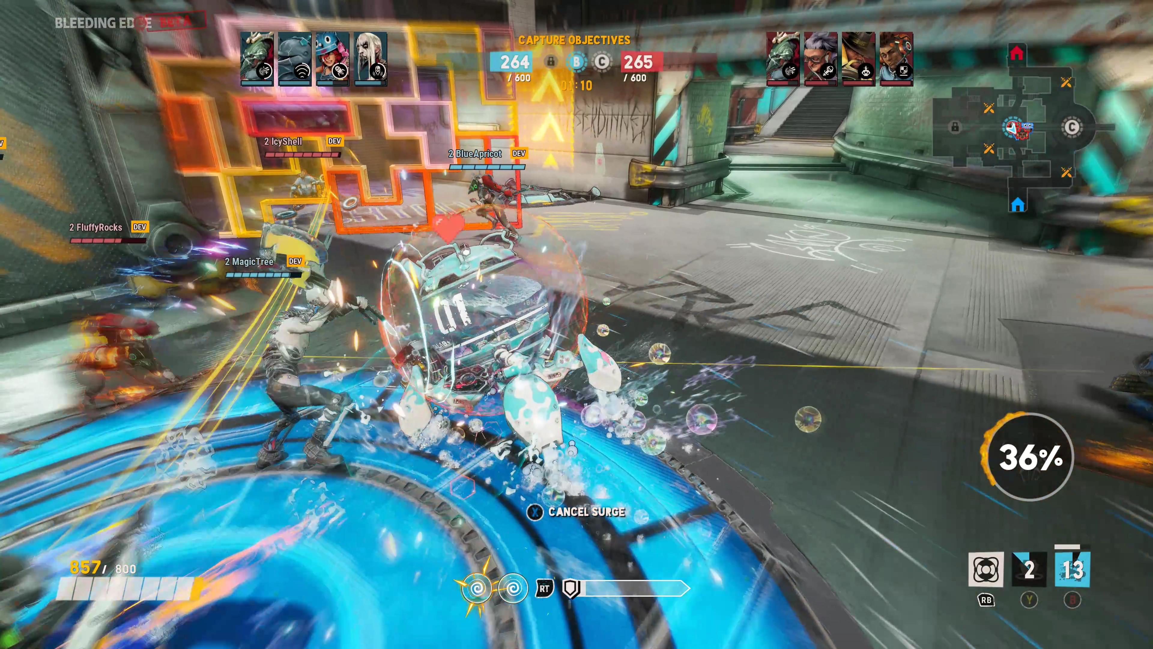 Mekko's bubble shield can take a hefty amount of damage.