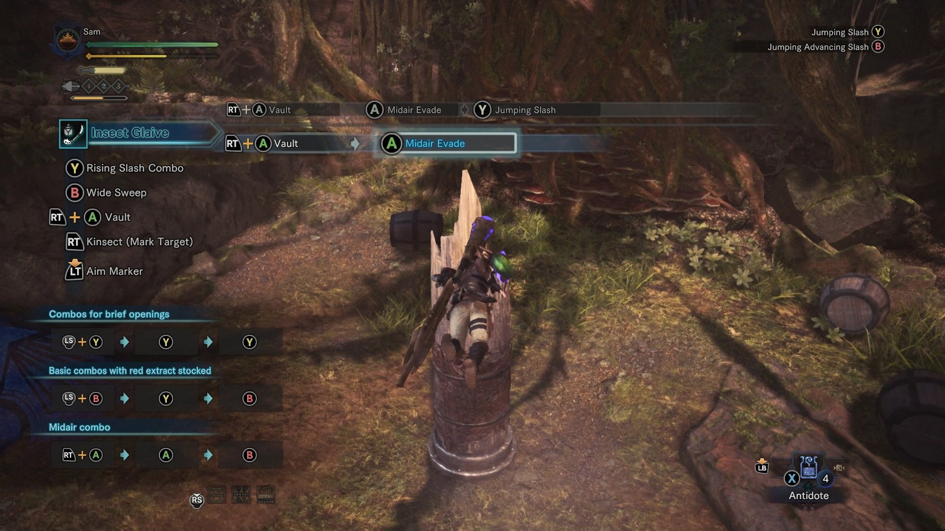 monster hunter world insect glaive midair evade