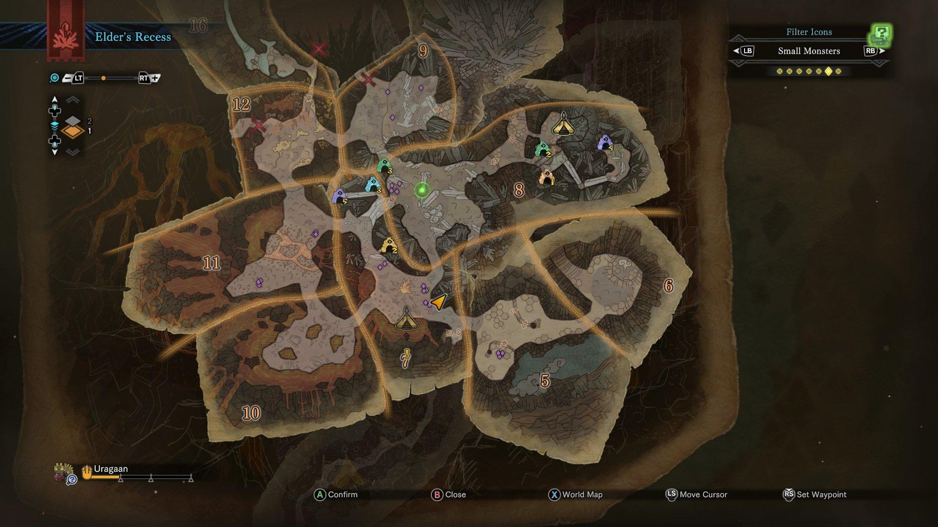 monster hunter world sight all monsters elders recess