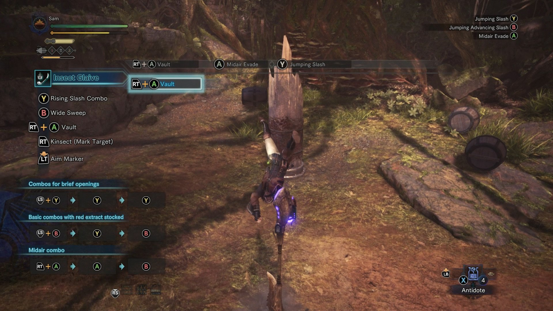 monster hunter world insect glaive air moves