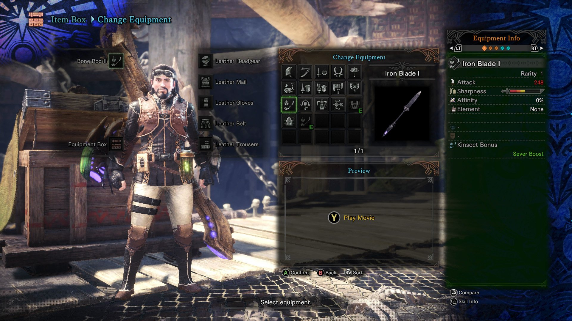 monster hunter world insect glaive iron blade