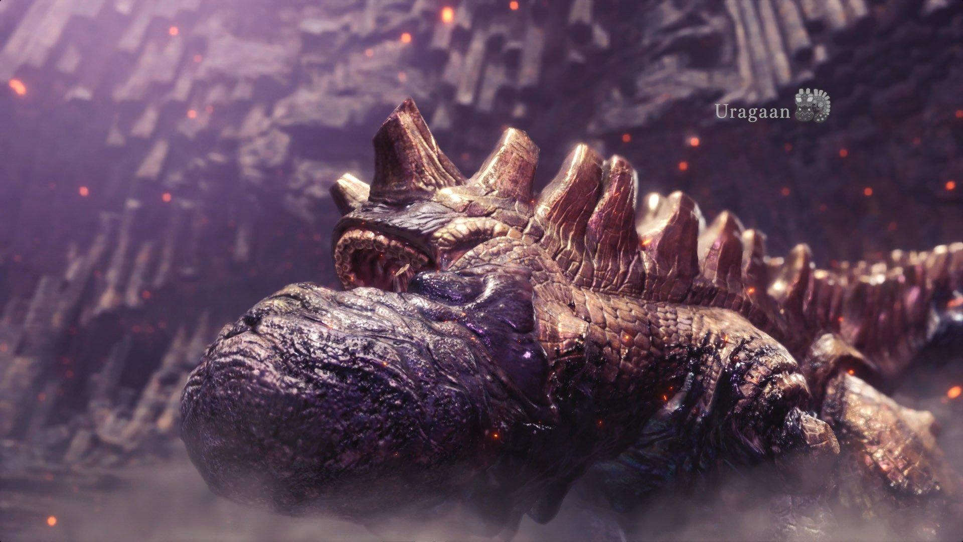 monster hunter world uragaan sight all monsters elders recess