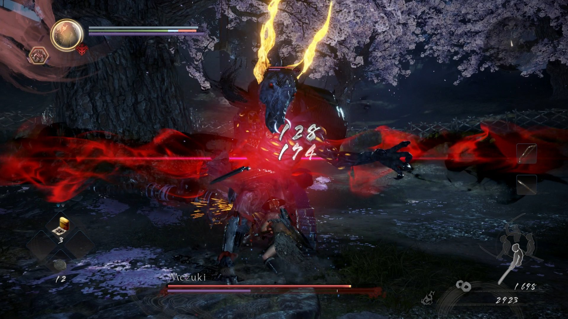 Nioh 2 Mezuki burst counter