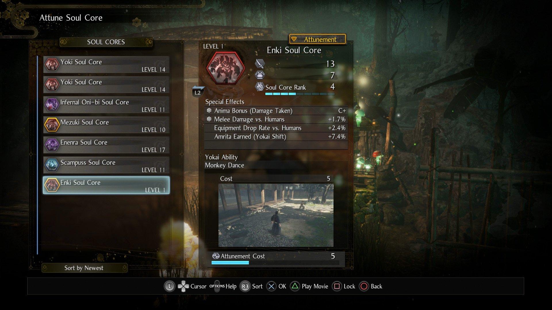 Nioh 2 Soul Core Enki