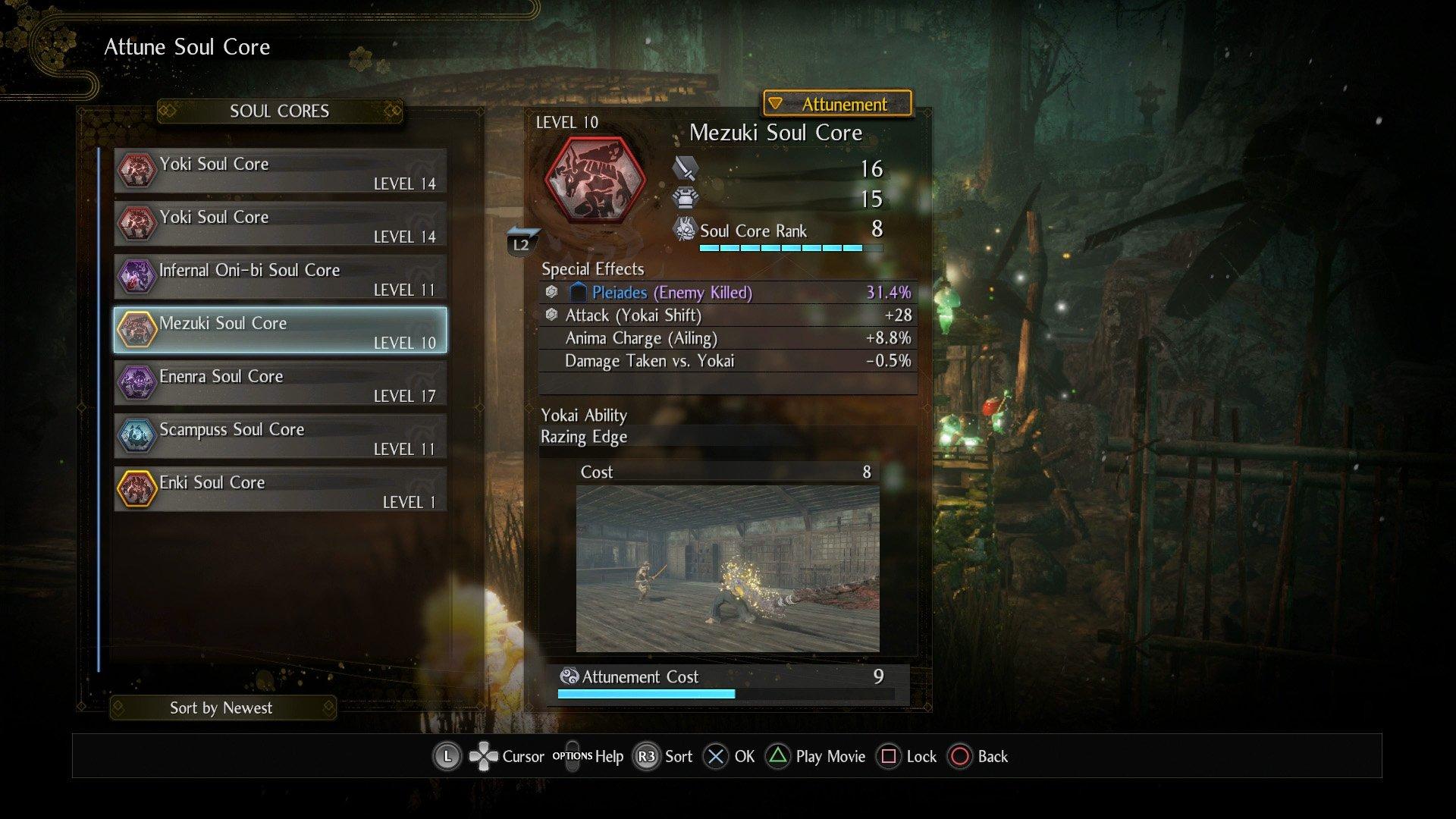 Nioh 2 Soul Core Mezuki