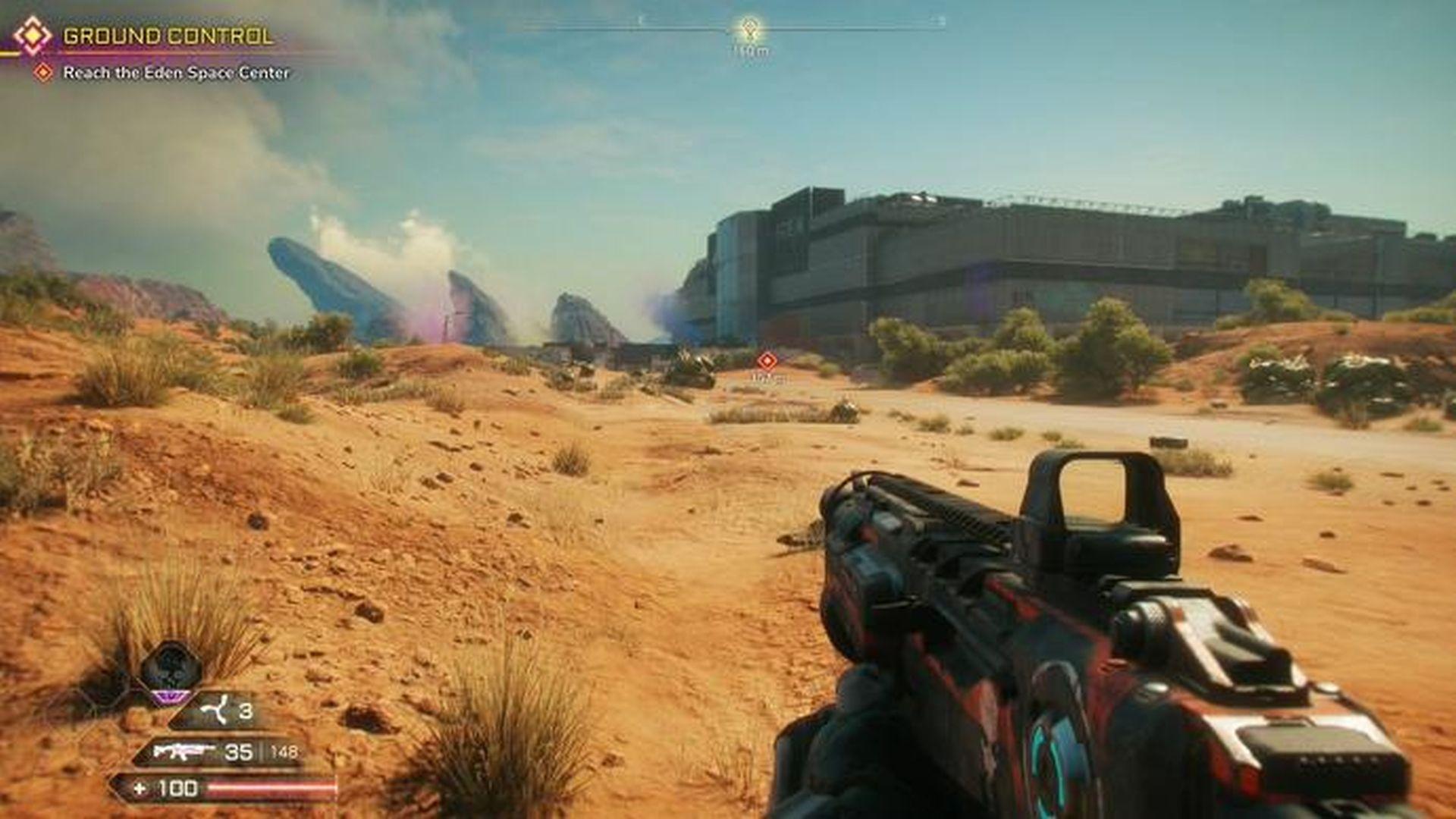 Rage 2--a first-person shooter, but a different beast than Doom Eternal.