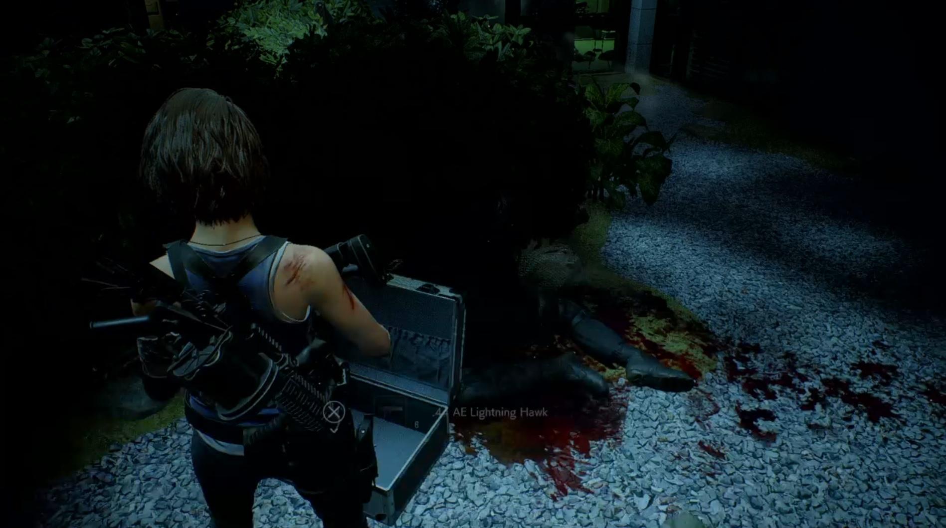 Resident Evil 3 remake's Lightning Hawk magnum.