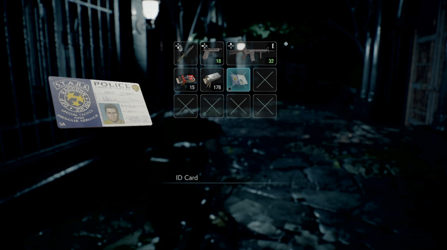Resident Evil 3 remake: S.T.A.R.S. ID card.