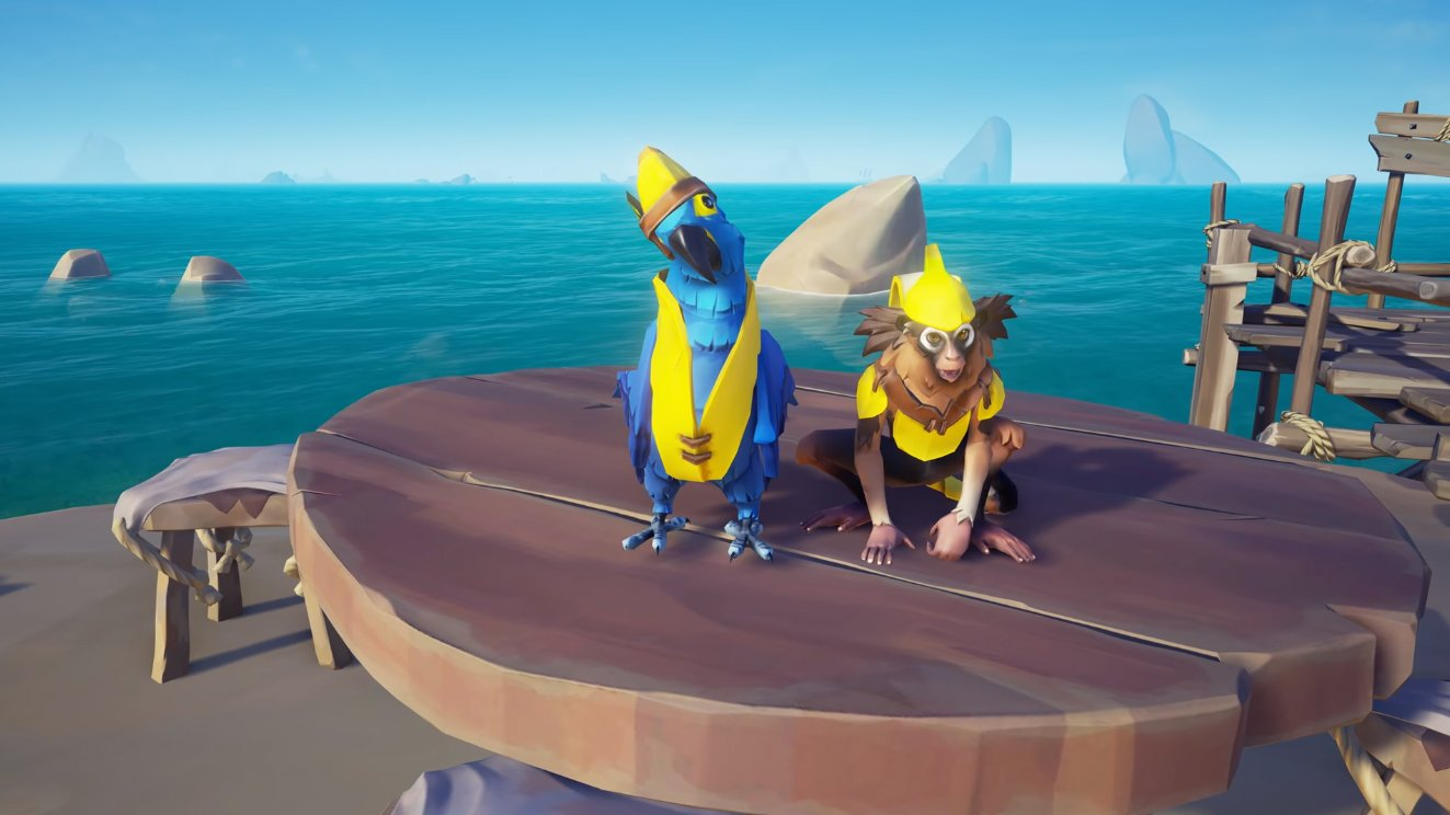 sea of thieves banana outfits