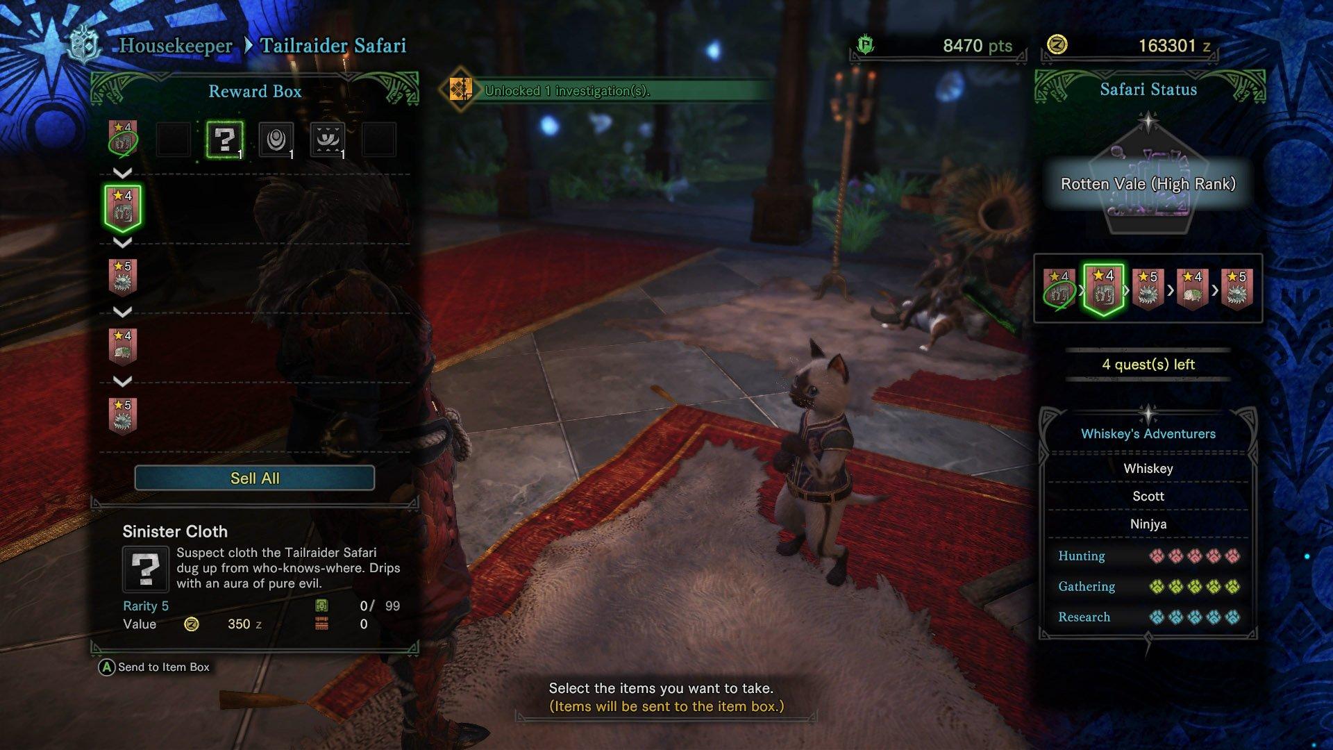 monster hunter world death stench sinister cloth