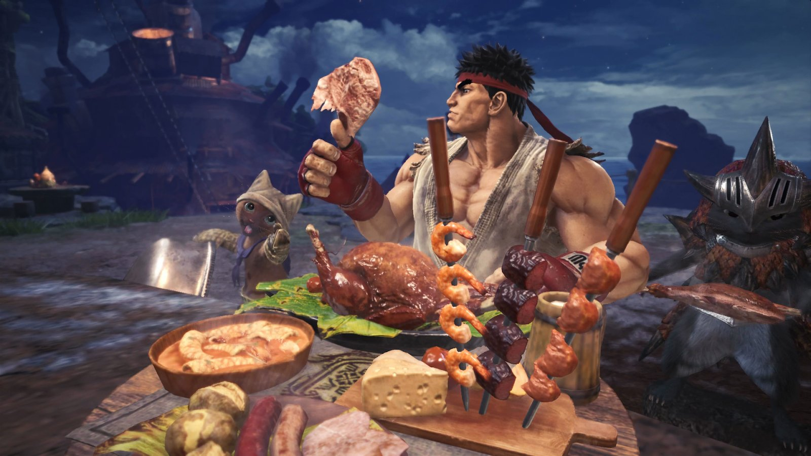 monster hunter world ryu street fighter