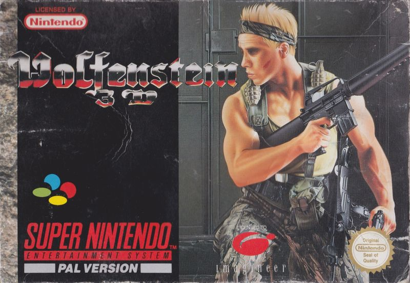 Wolfenstein 3D's cover art on SNES.