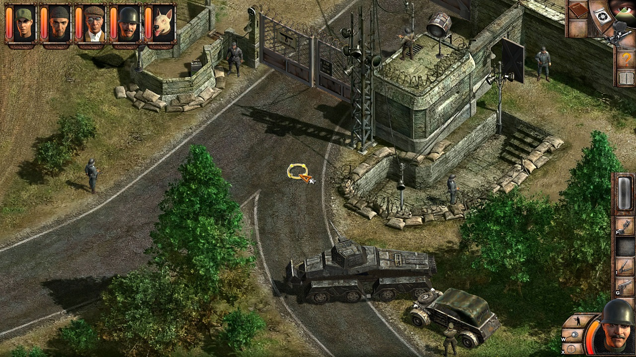 Missions from the best Commandos games often challenge players to make the best choices with very few resources or risk catastophic failure.