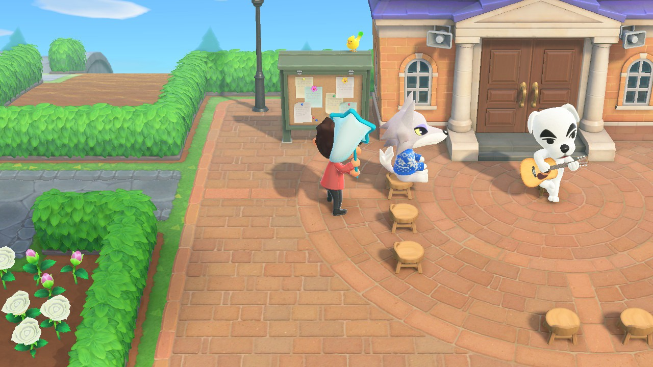 Trying to catch birds in Animal Crossing: New Horizons