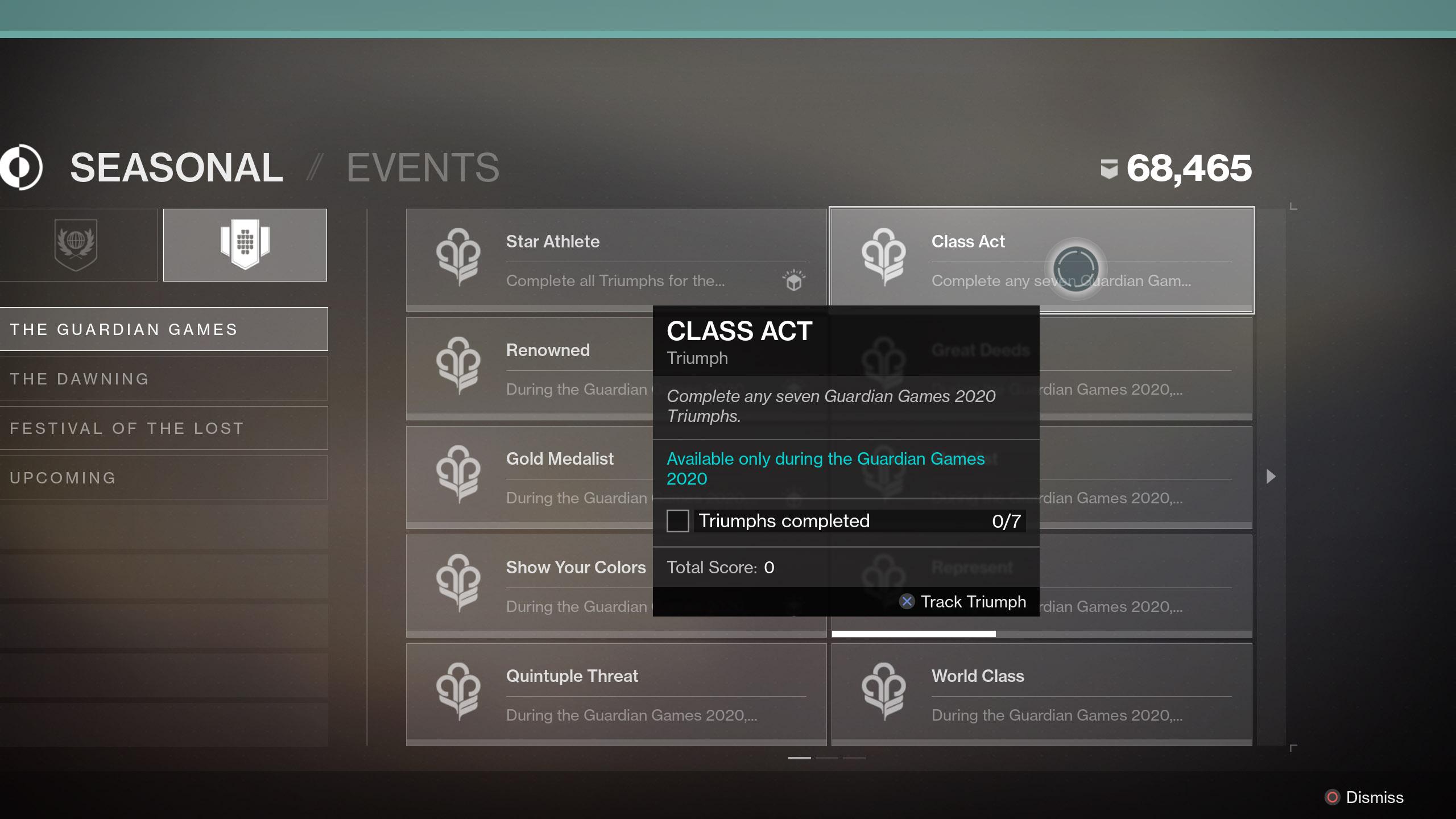 Class Act Destiny 2