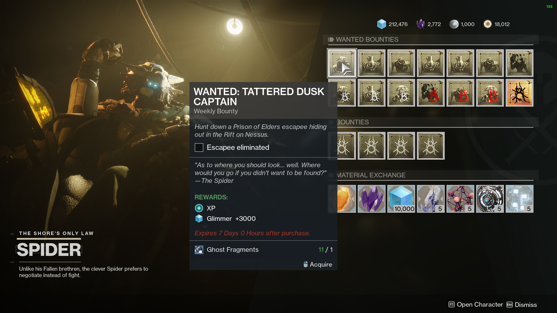destiny 2 tattered dusk captain bounty
