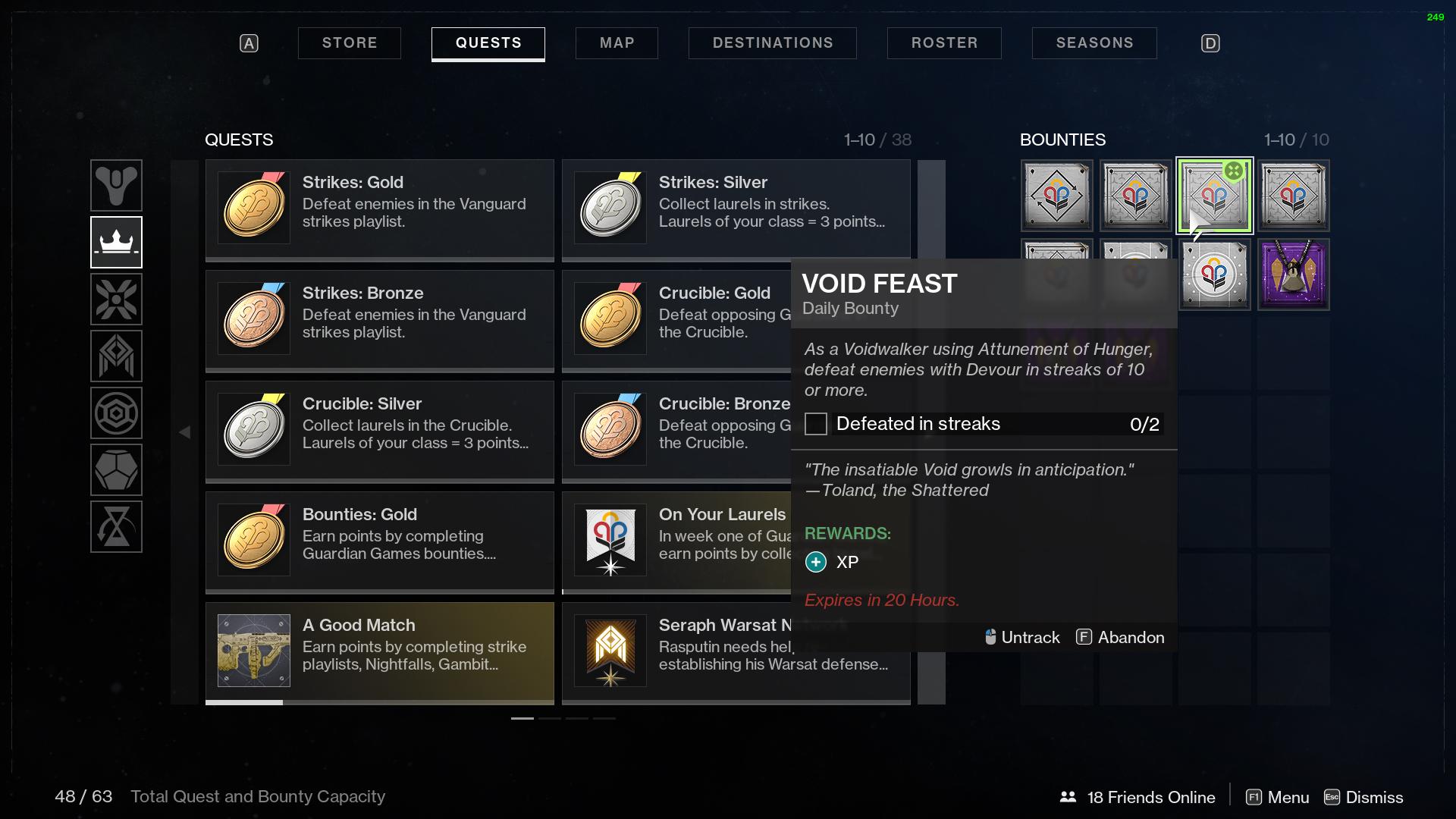 destiny 2 void feast bounty