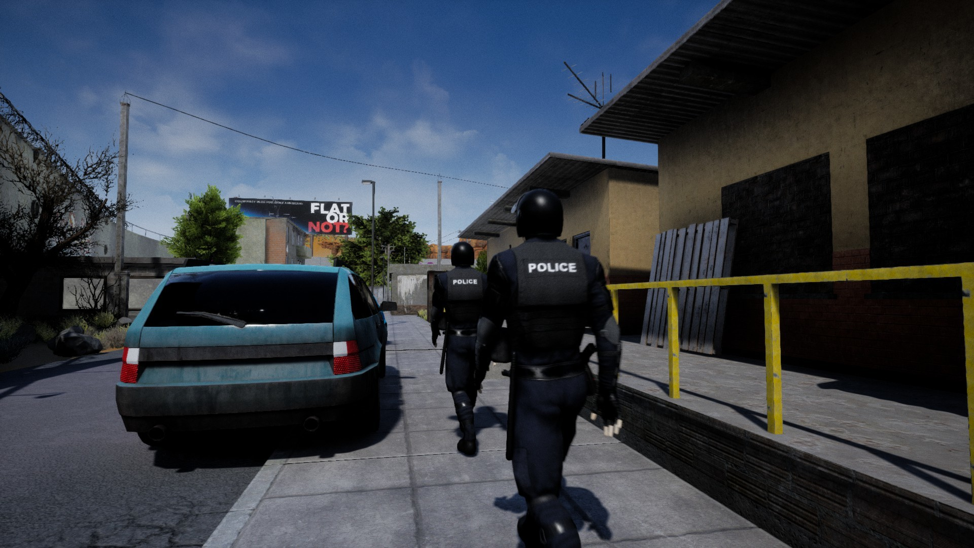 Police patrolling the streets in Drug Dealer Simulator