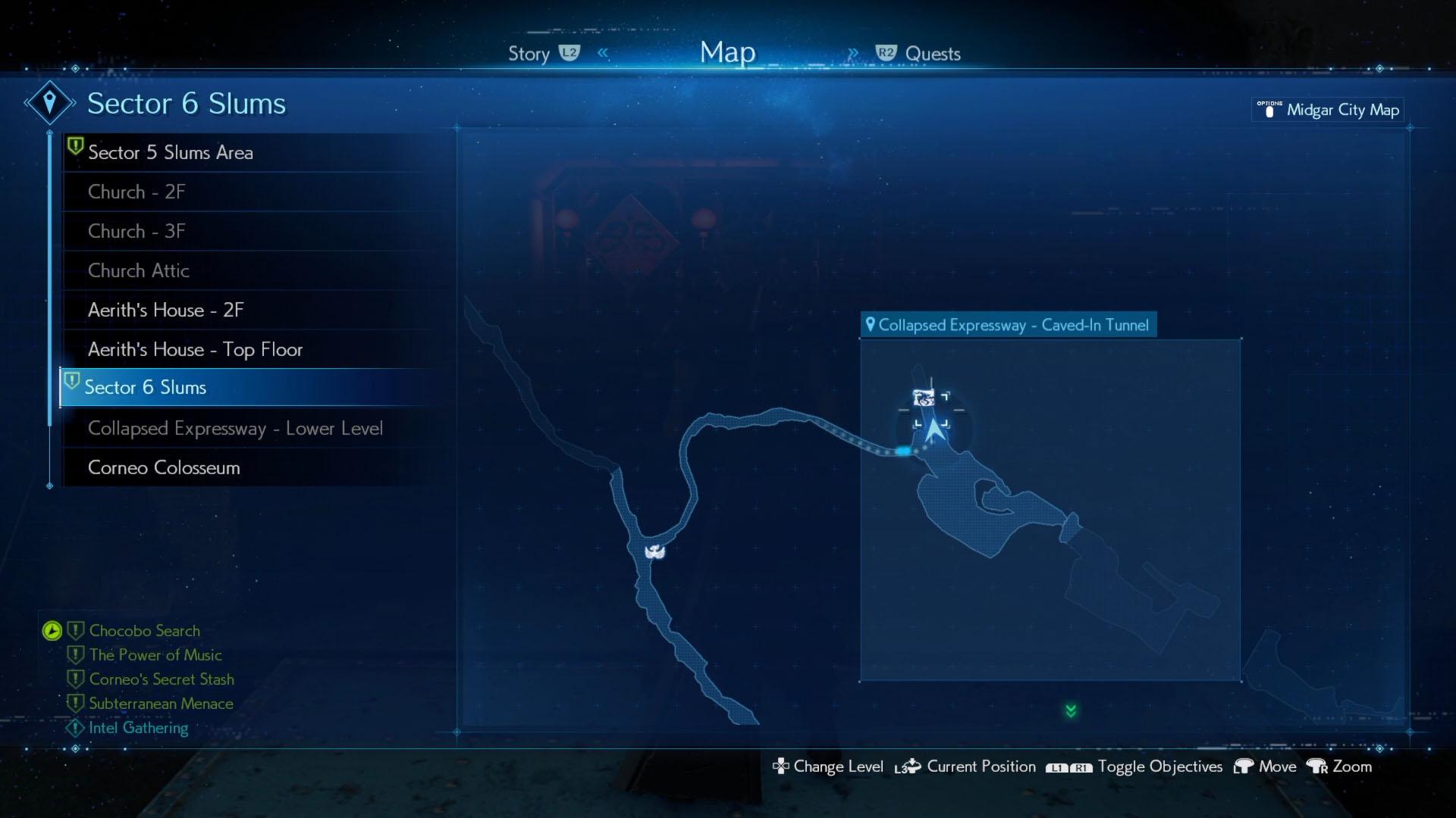 Corneo Secret Stash locations - Collapsed Expressway - Final Fantasy 7 Remake