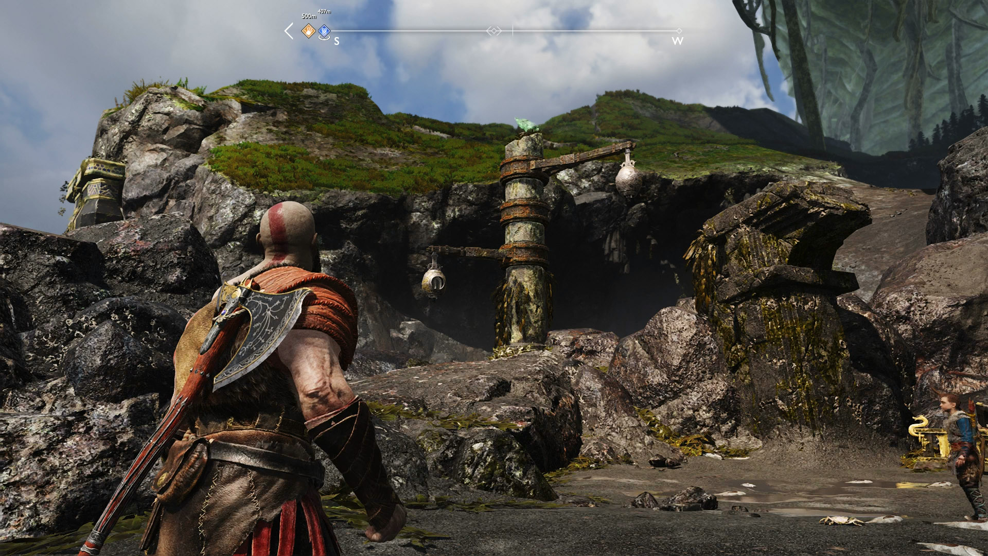 god of war eyes of odin raven forgotten caverns