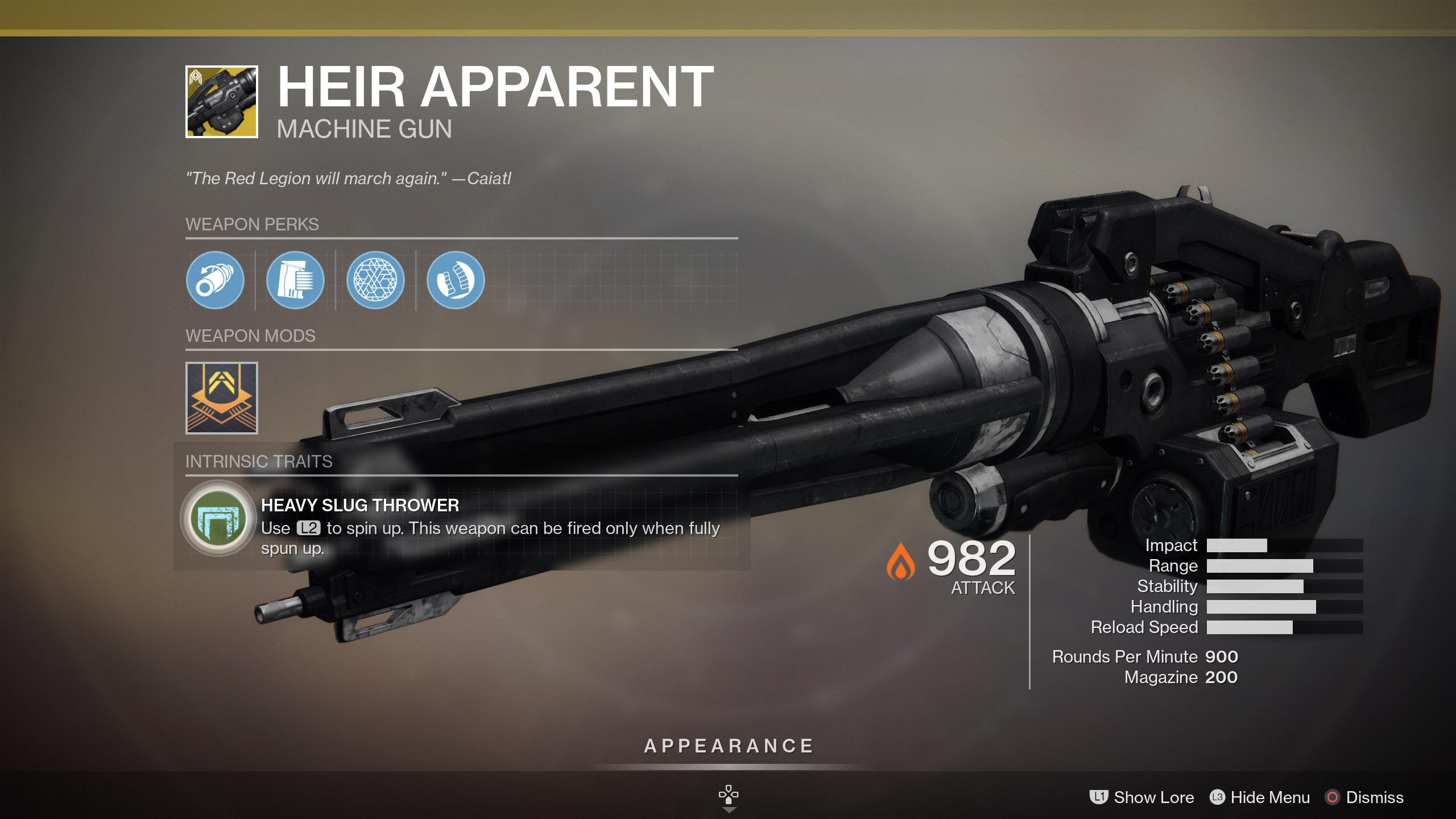 Heir Apparent Destiny 2
