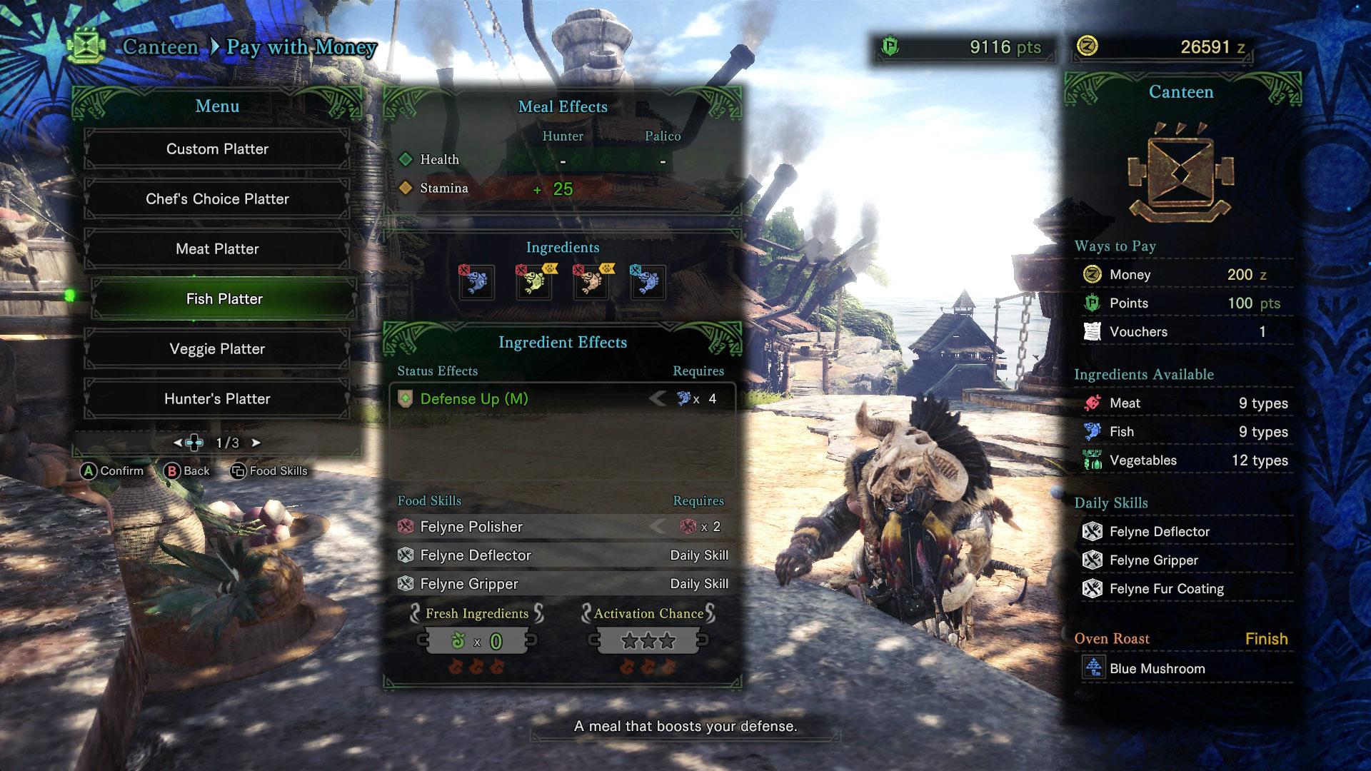 Monster Hunter World canteen before Odogaron