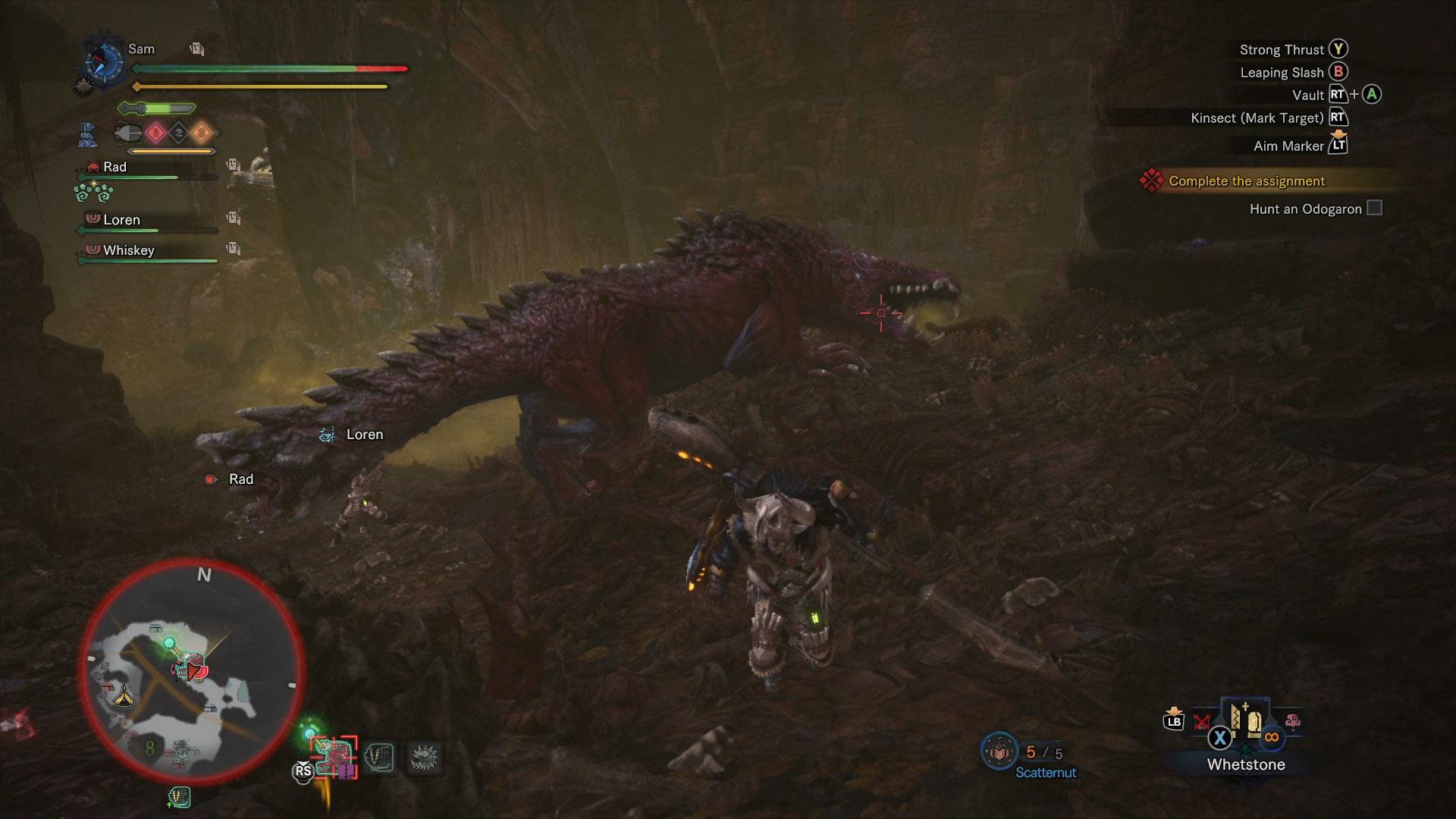 monster hunter world odogaron strengths