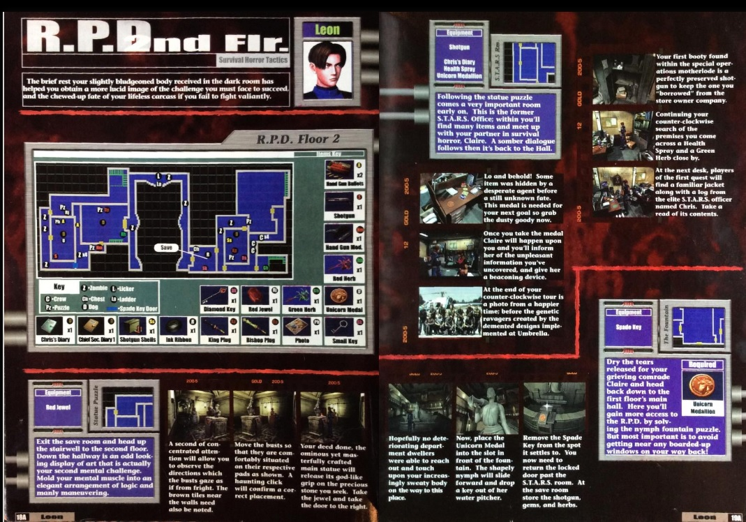 Excerpt from GameFan's strategy guide for Resident Evil 2 (classic).
