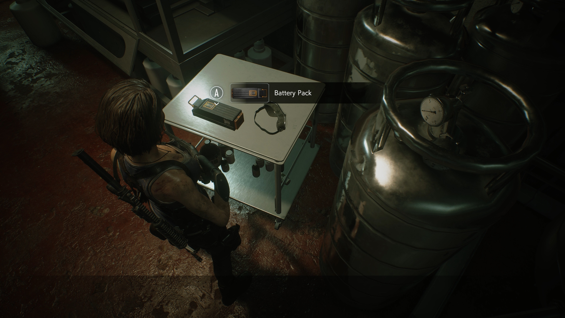 resident evil 3 battery pack location