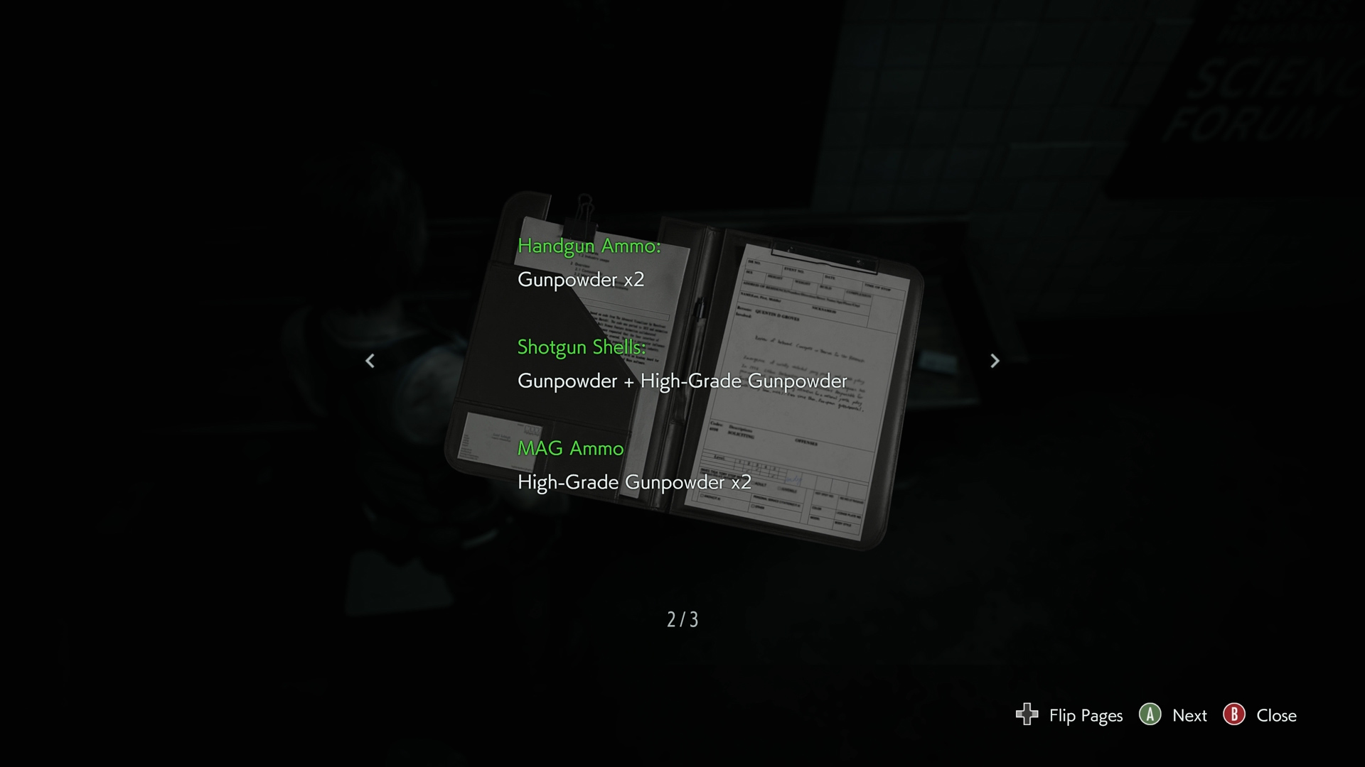 resident evil 3 ammo recipes