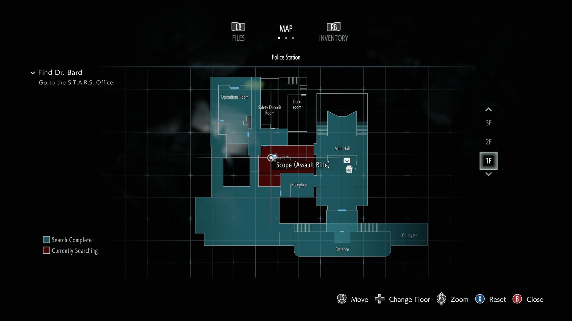 Resident Evil 3 Assault Rifle upgrade Scope location map