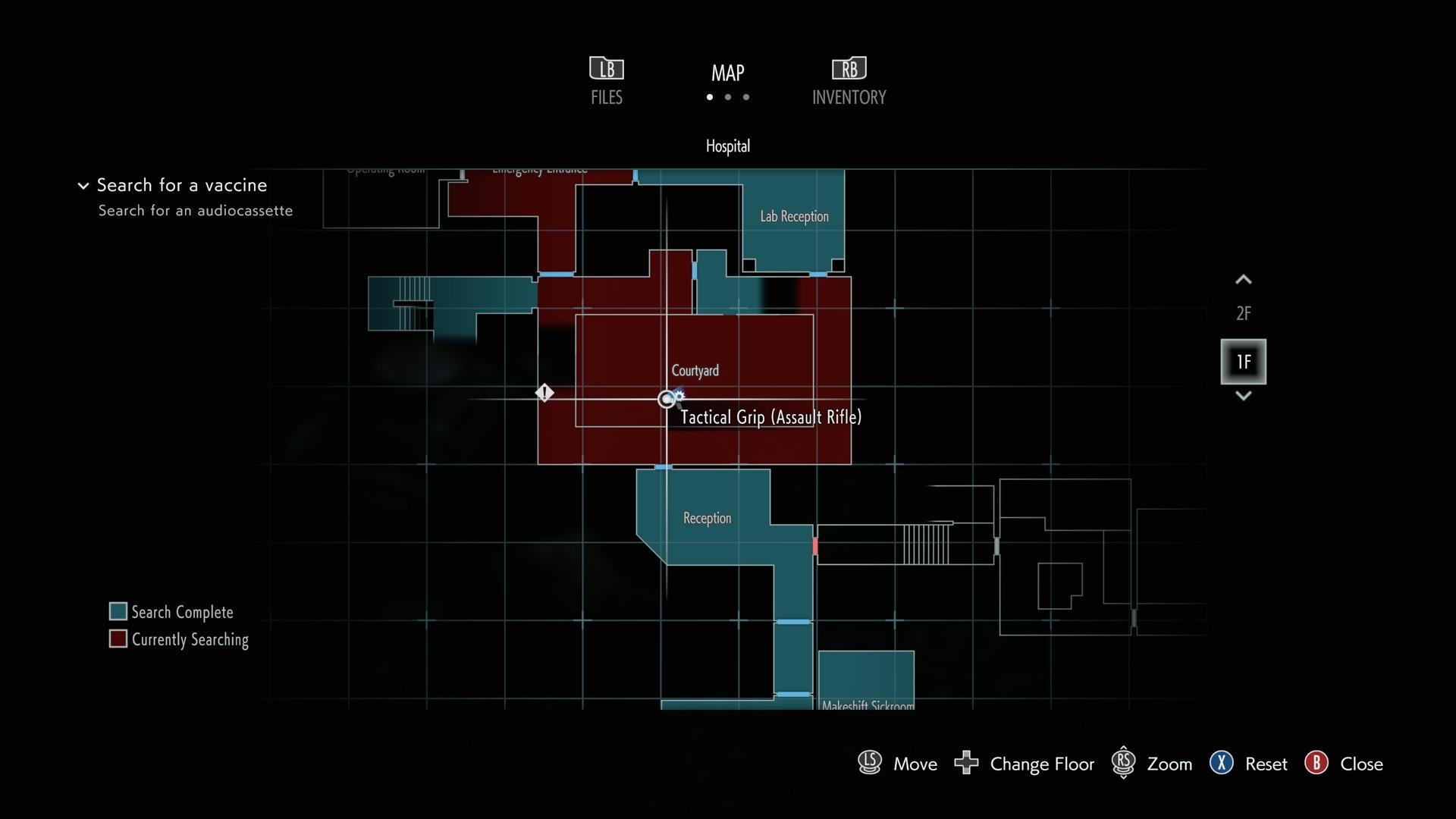 Resident Evil 3 Assault Rifle Tactical Grip location map