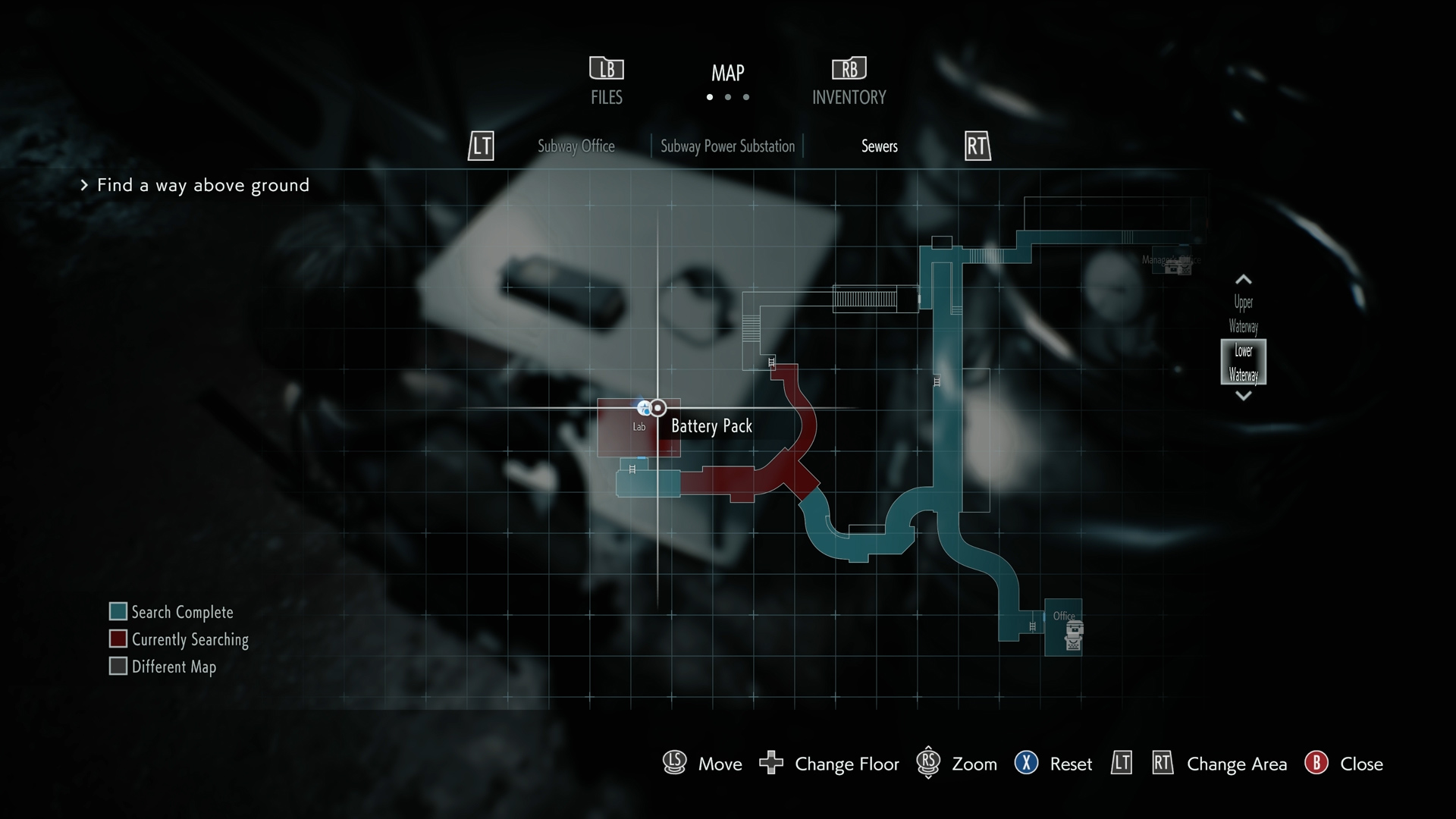 resident evil 3 battery pack location map