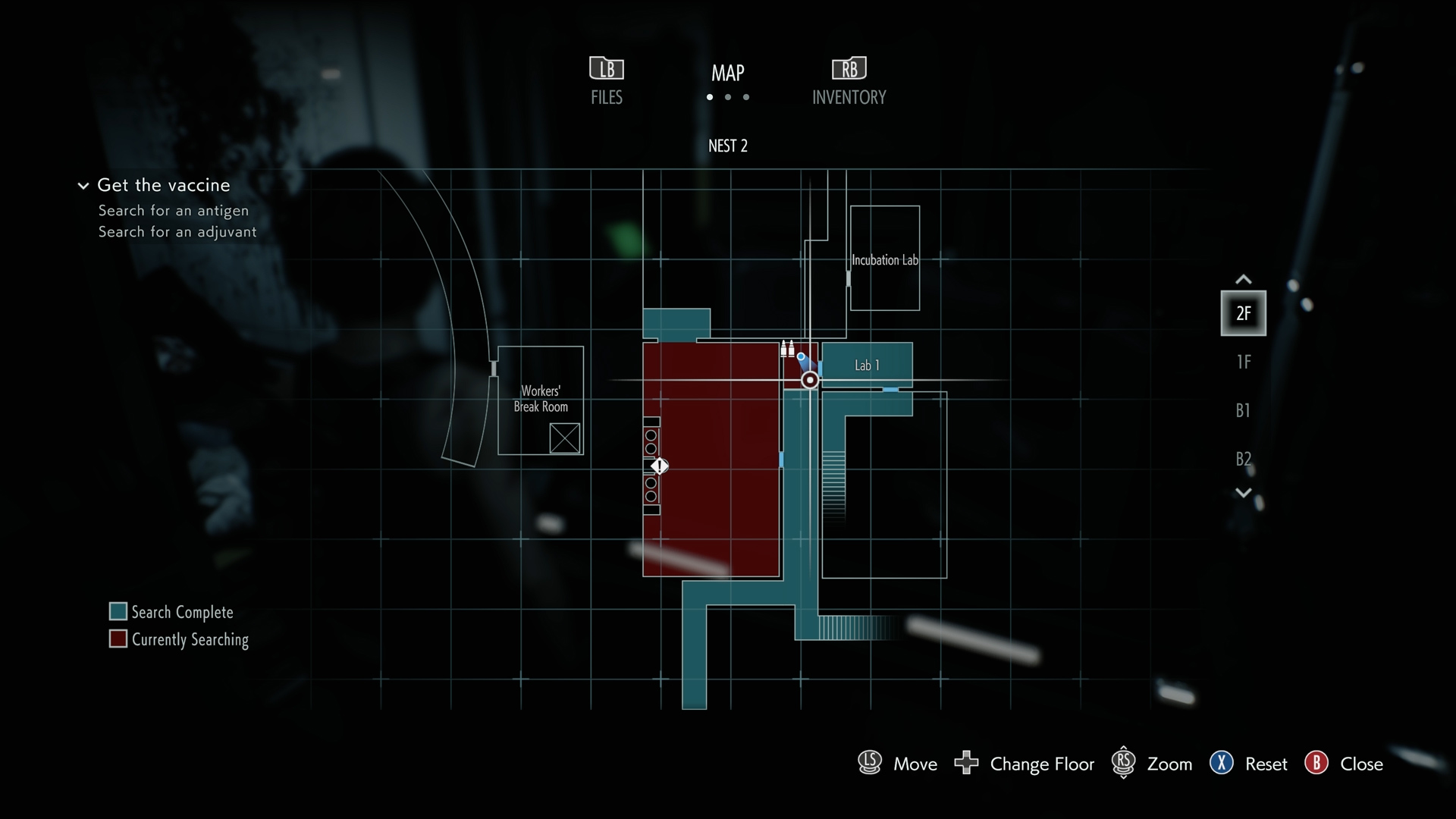 Resident Evil 3 Charlie Doll locations NEST 2 Lab 1 map