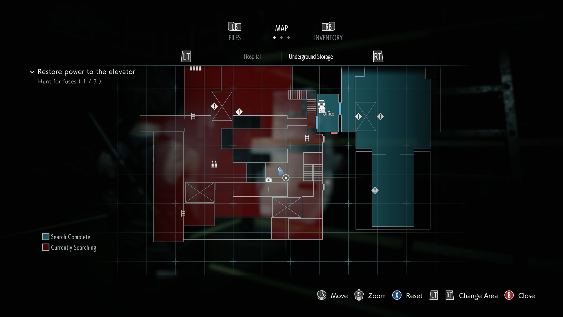 Resident Evil 3 Charlie Doll locations Underground Storage map