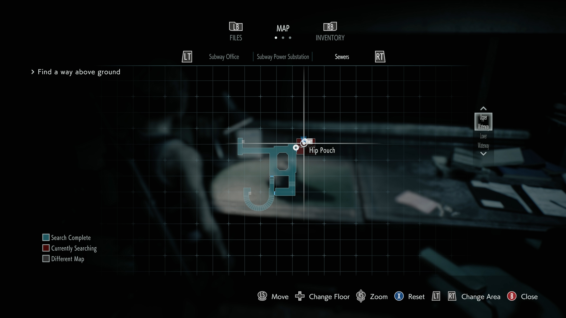 Resident Evil 3 hip pouch 3 location map