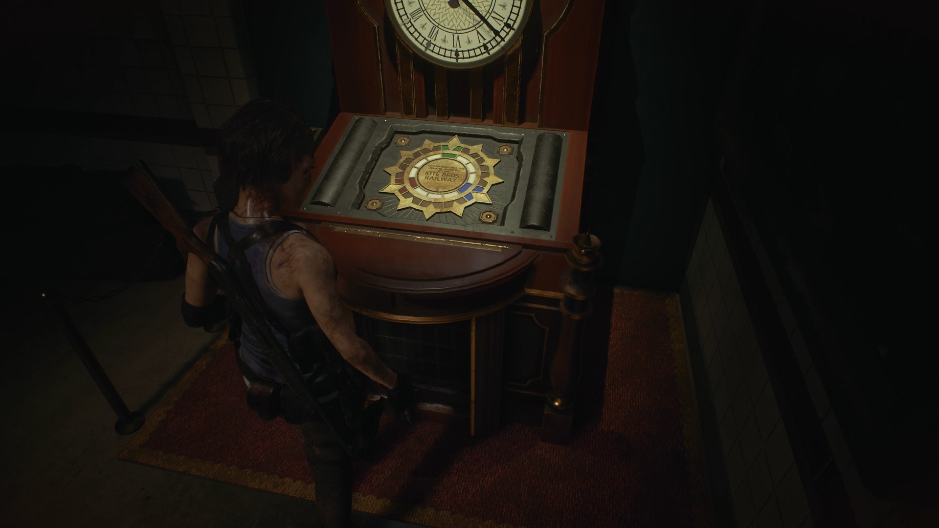 Resident Evil 3 jewel locations clock tower monument