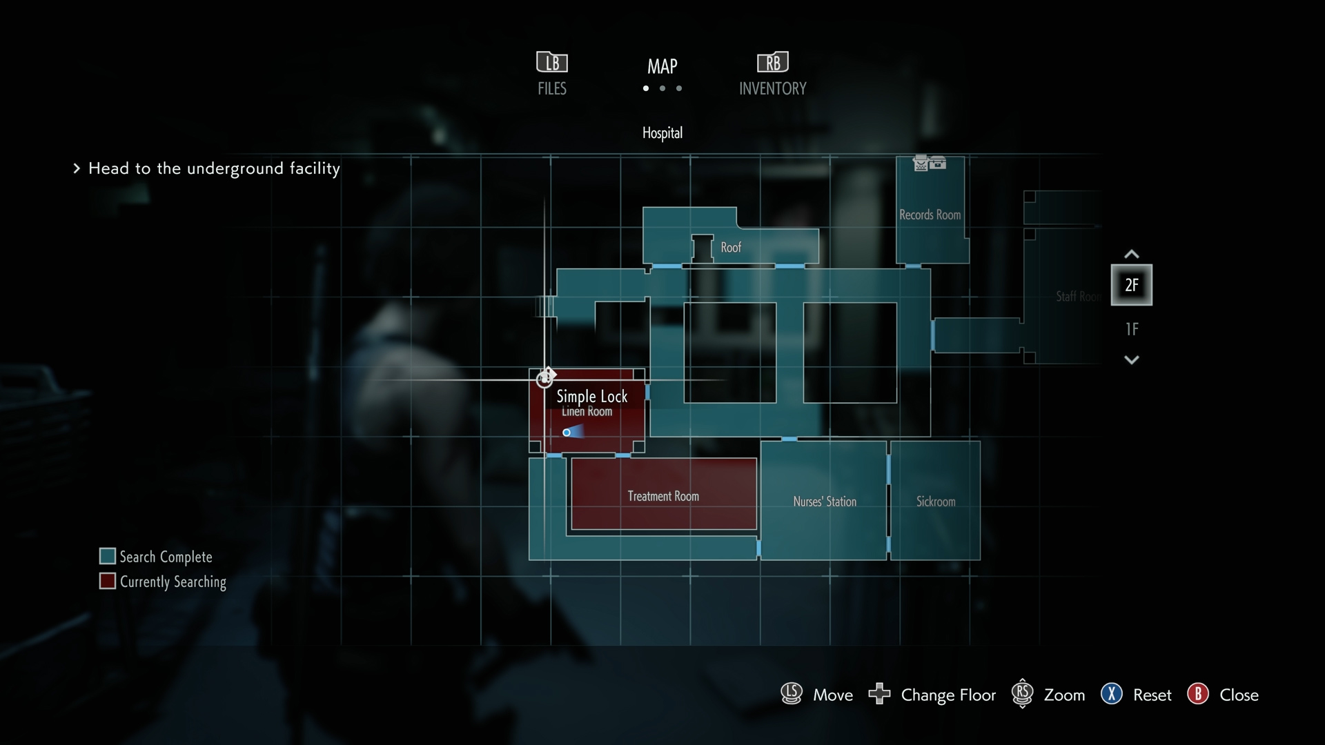 Resident Evil 3 locker locations Hospital Linen Room map