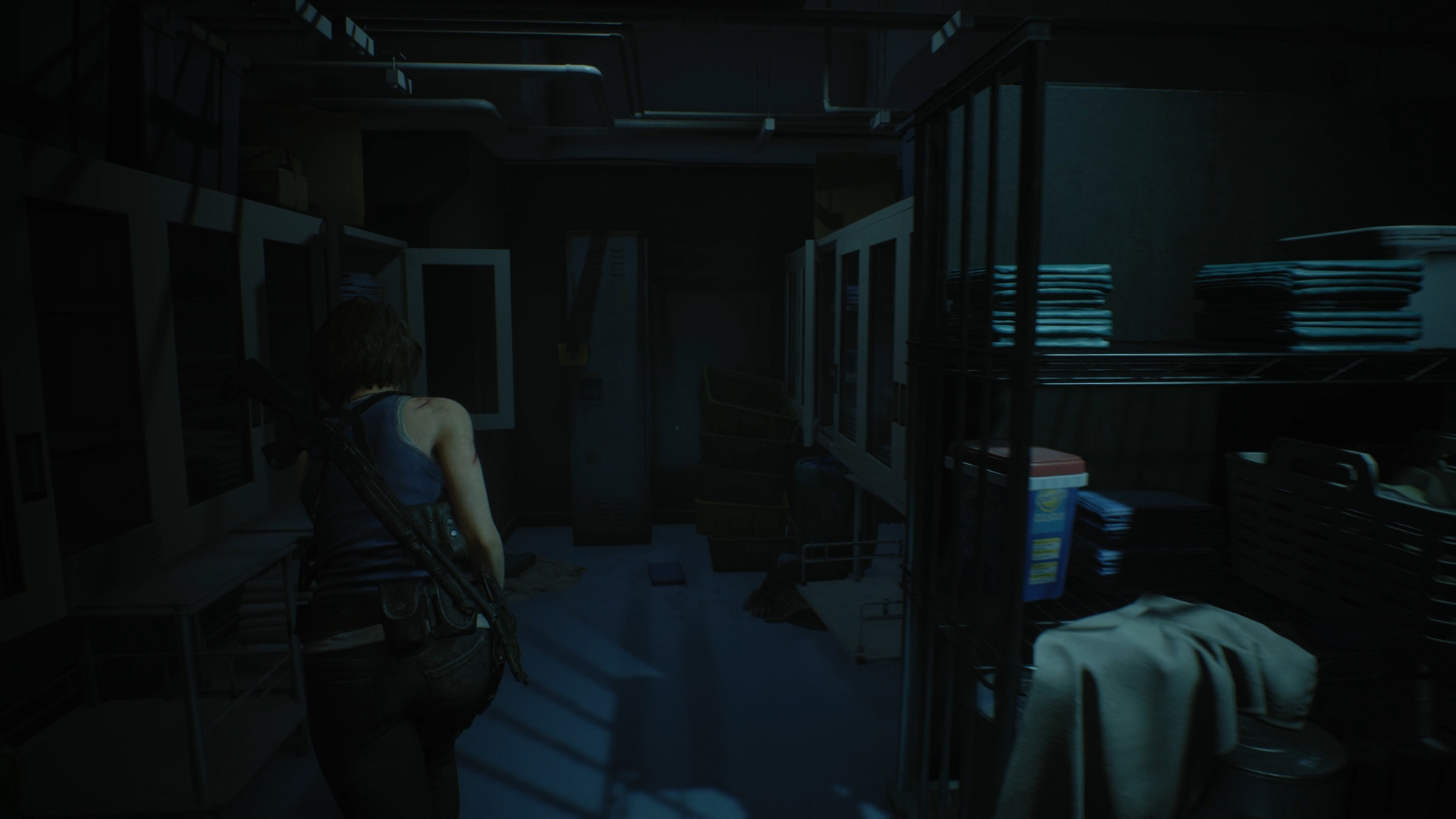 Resident Evil 3 locker locations Hospital Linen Room