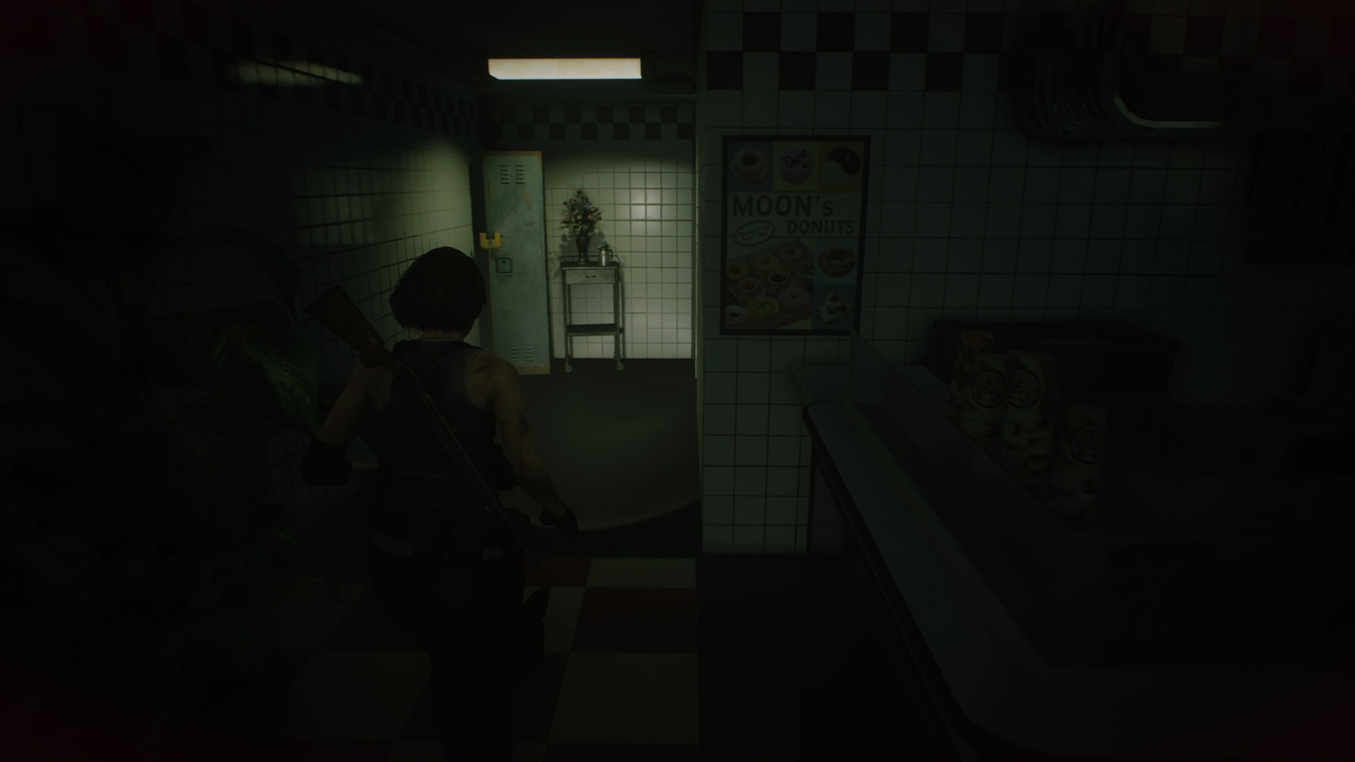 Resident Evil 3 locker locations Downtown Moon's Donuts locker