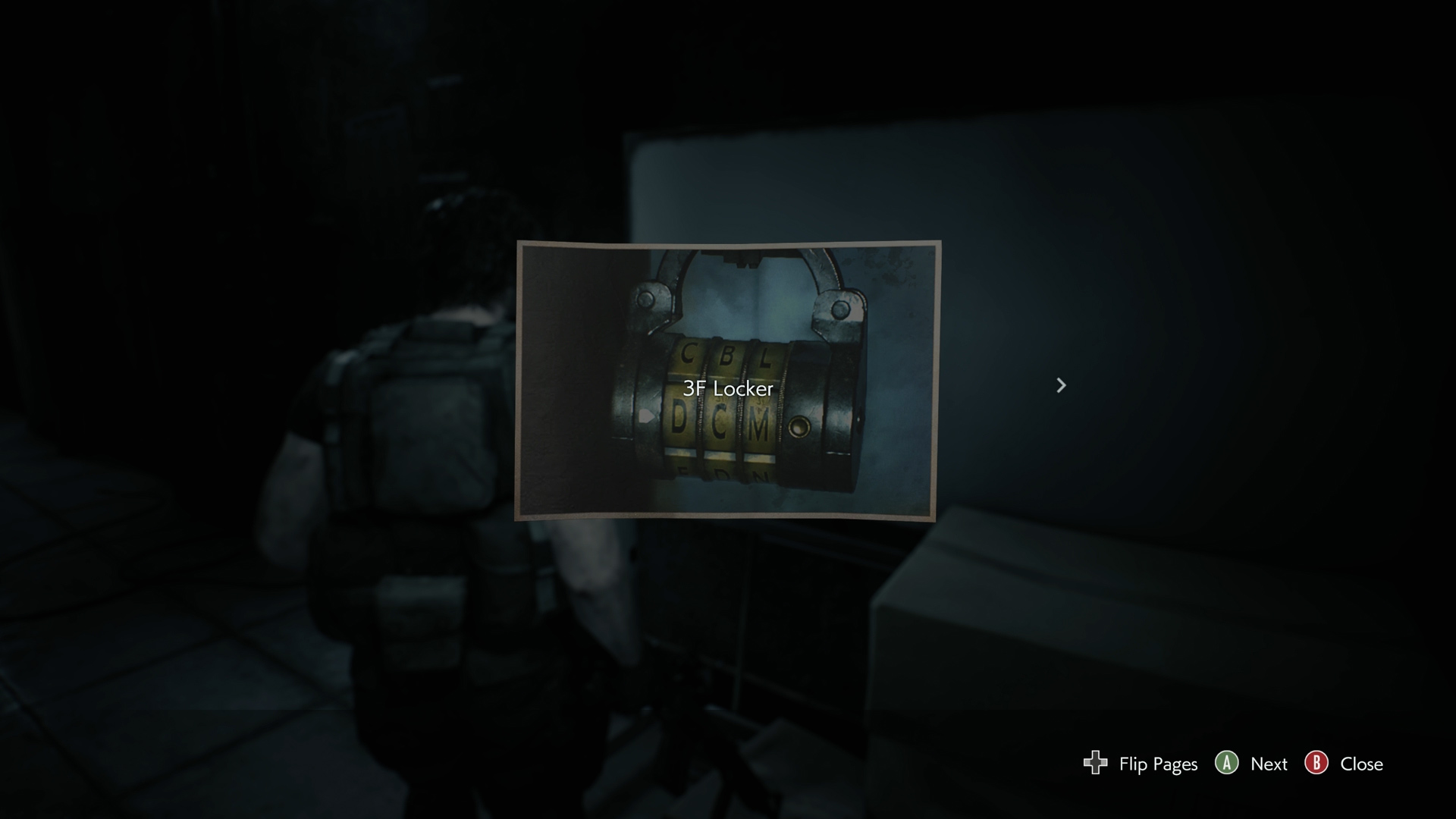 Resident Evil 3 locker locations Police Station 3F Code