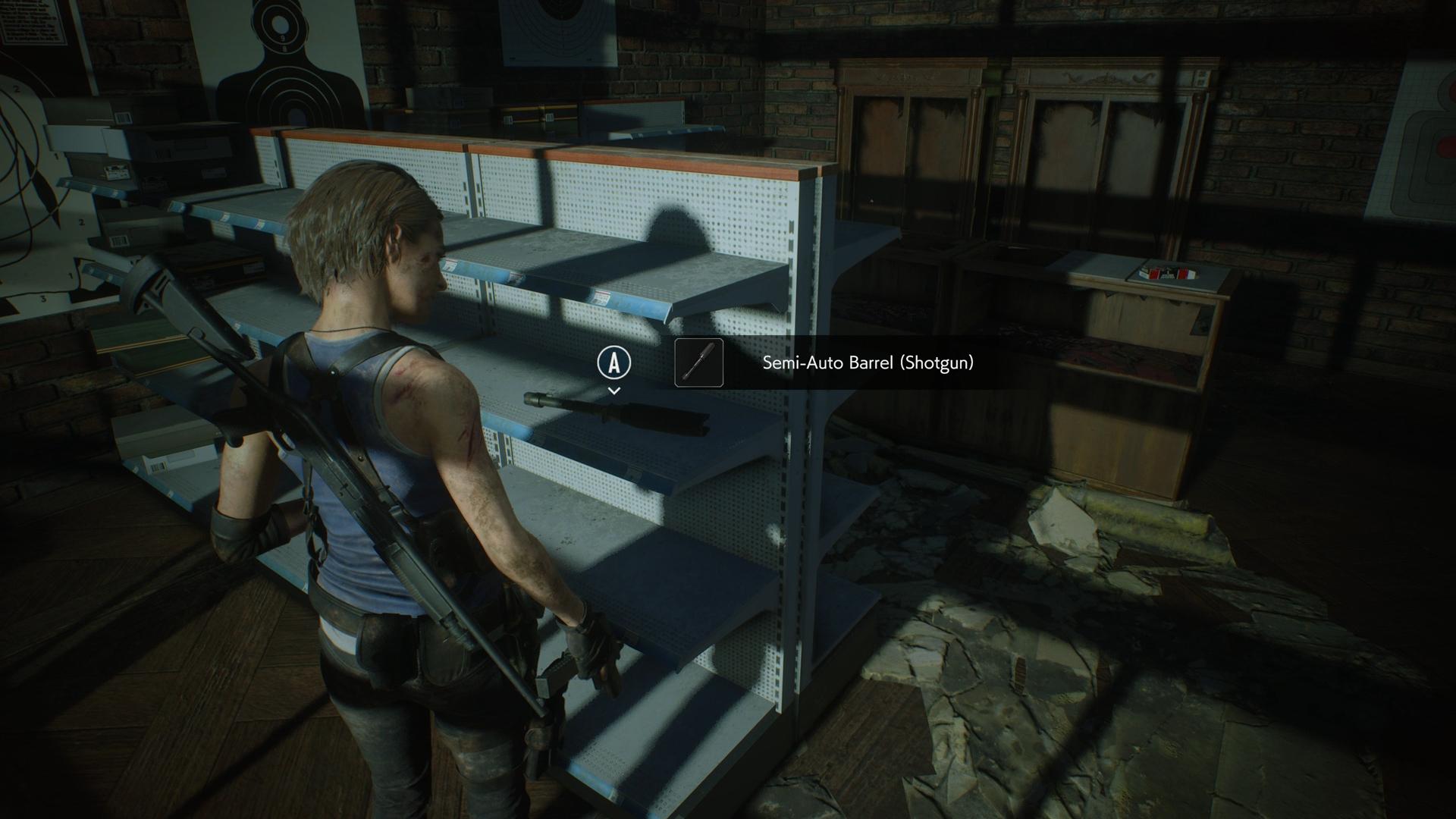 Resident Evil 3 Shotgun Semi-Auto Barrel location