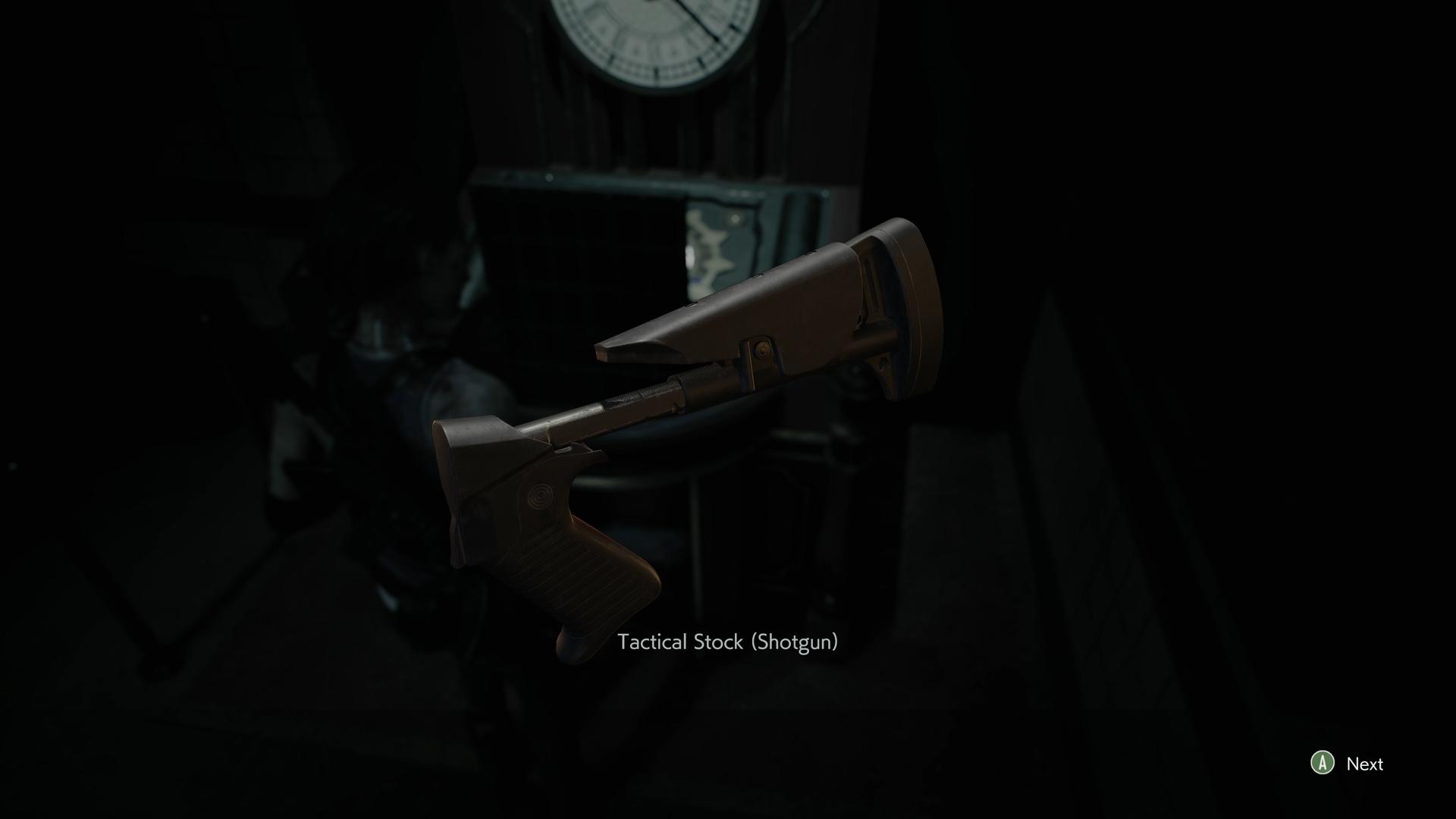 Resident Evil 3 Tactical Stock Shotgun location