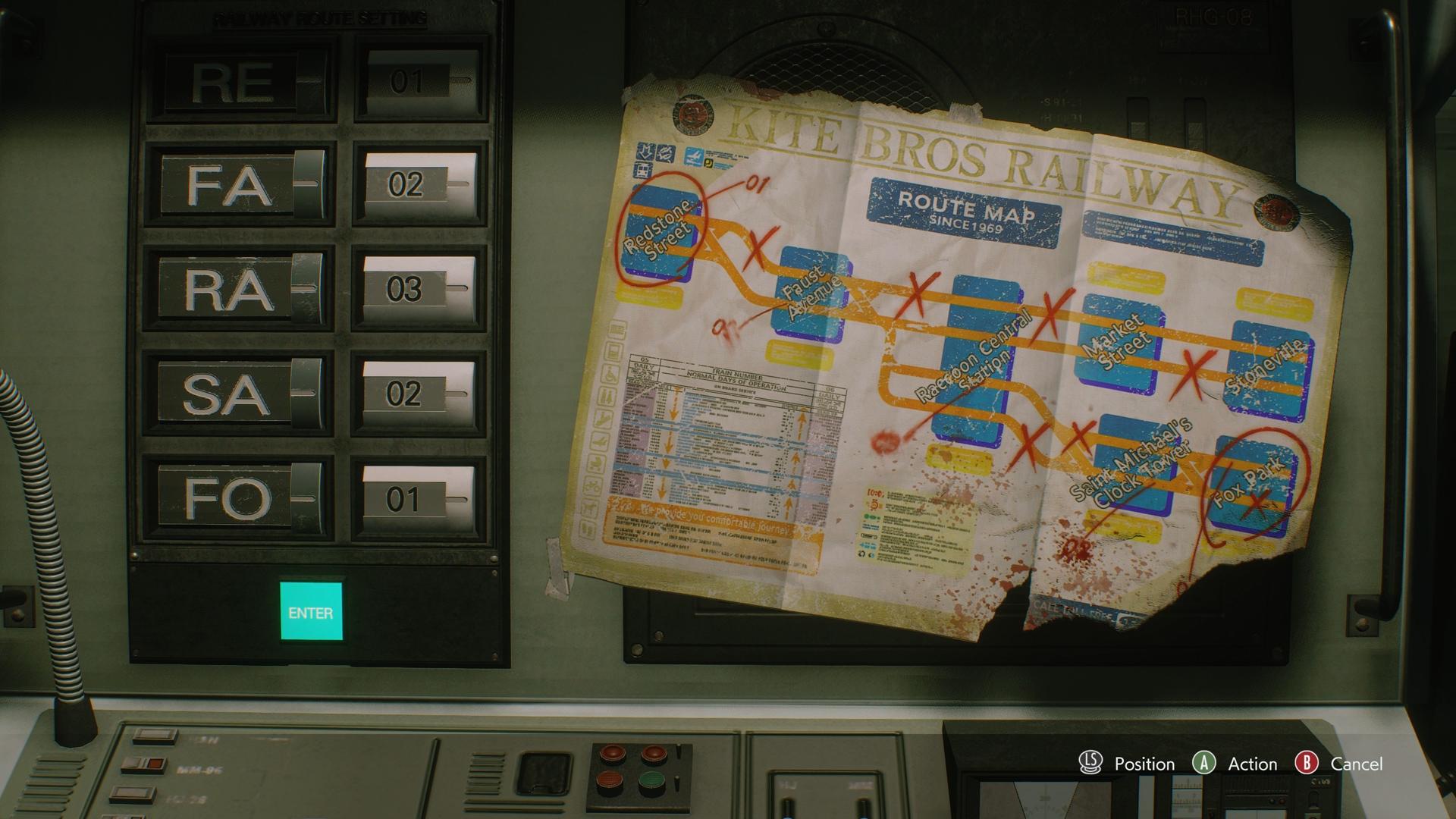 resident evil 3 subway route puzzle