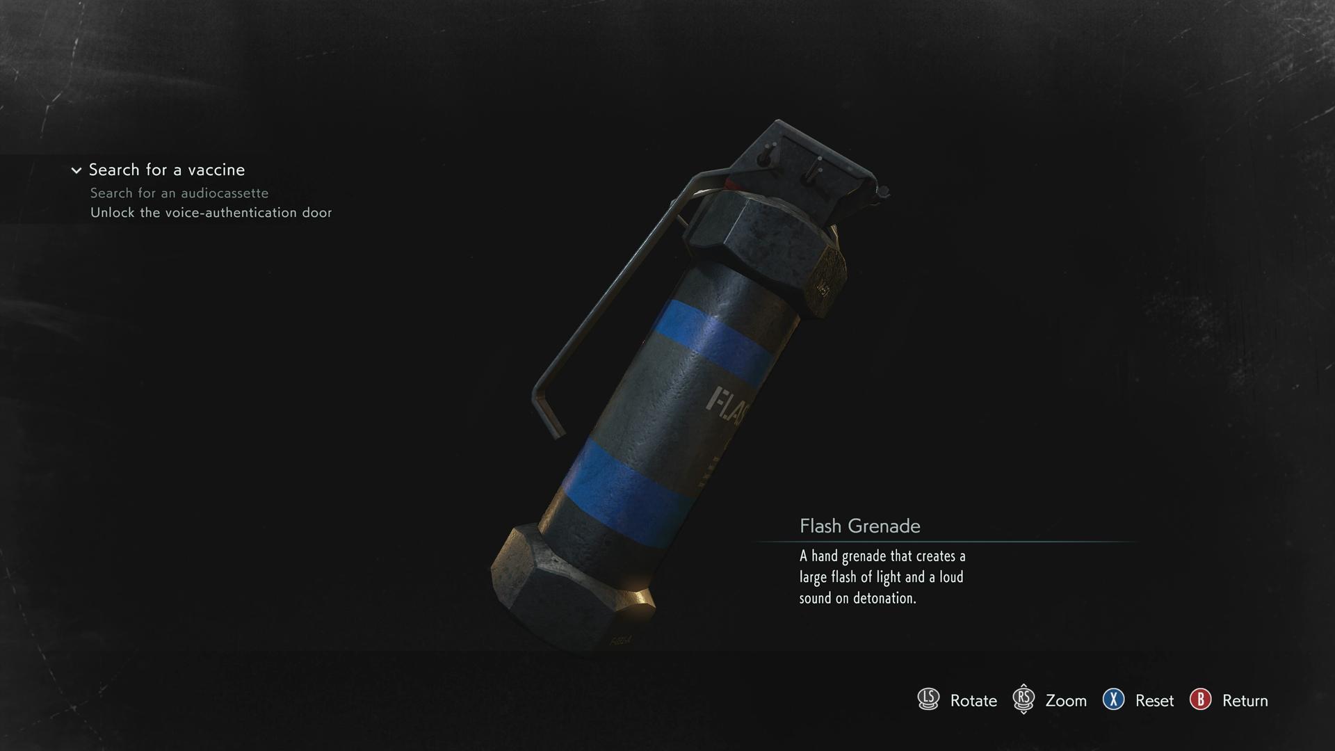 Resident Evil 3 Flash Grenade